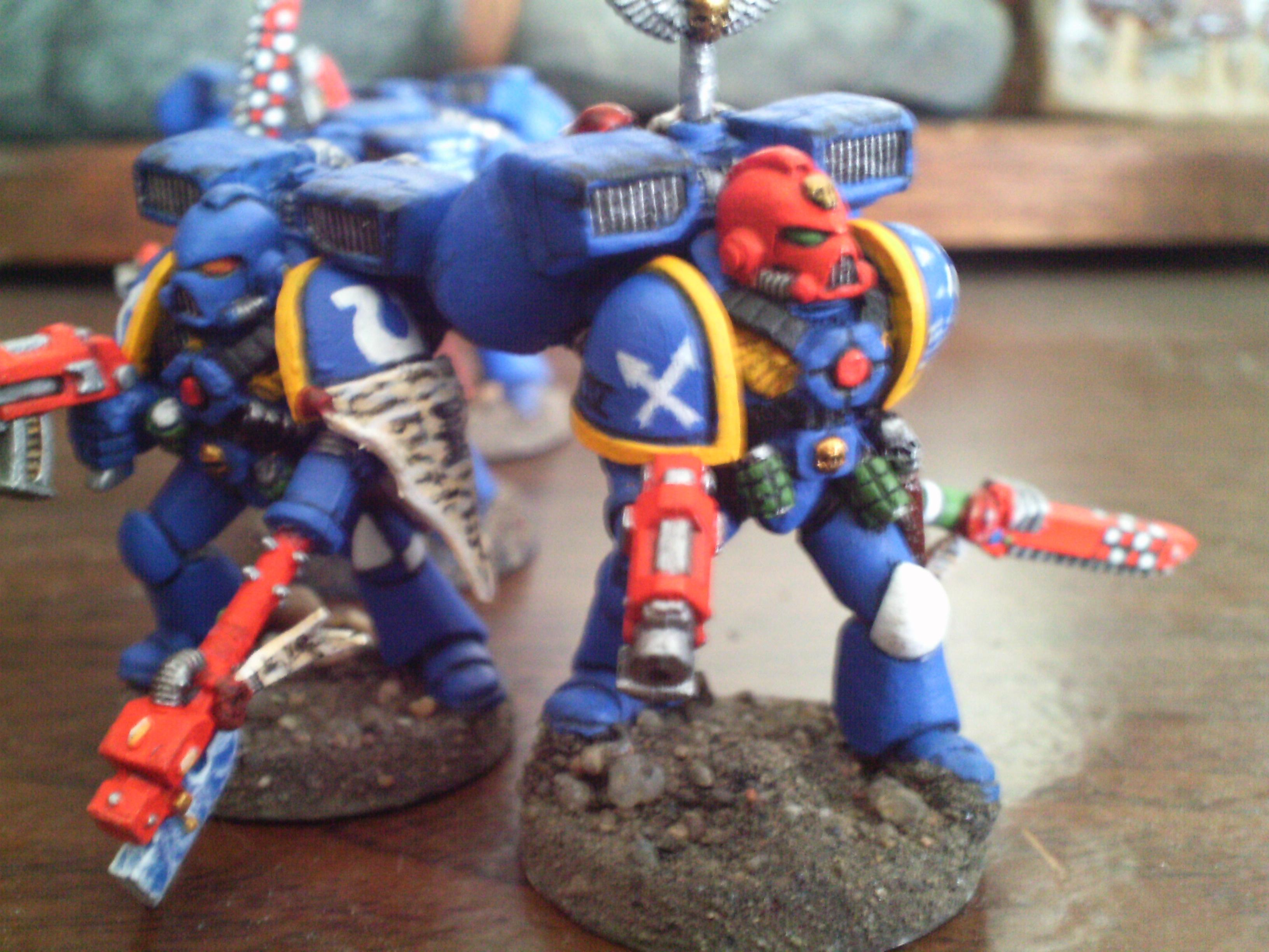 Ultramarines Poweraxe Blue Space Marine