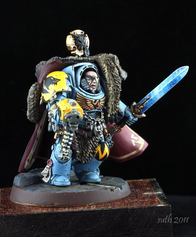 Lone Wolf, Power Sword, Space Wolves, Terminator Armor, Wolf Guard