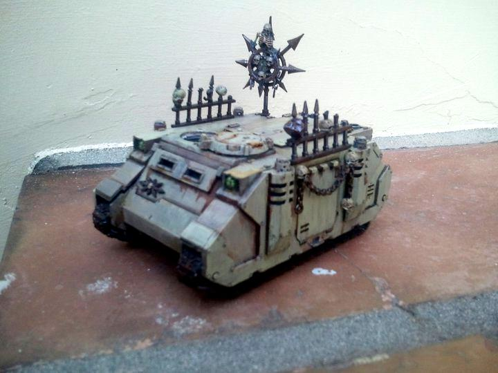 Chaos Space Marines, Nurgle, Plague Marines, Rhino, Warhammer 40,000