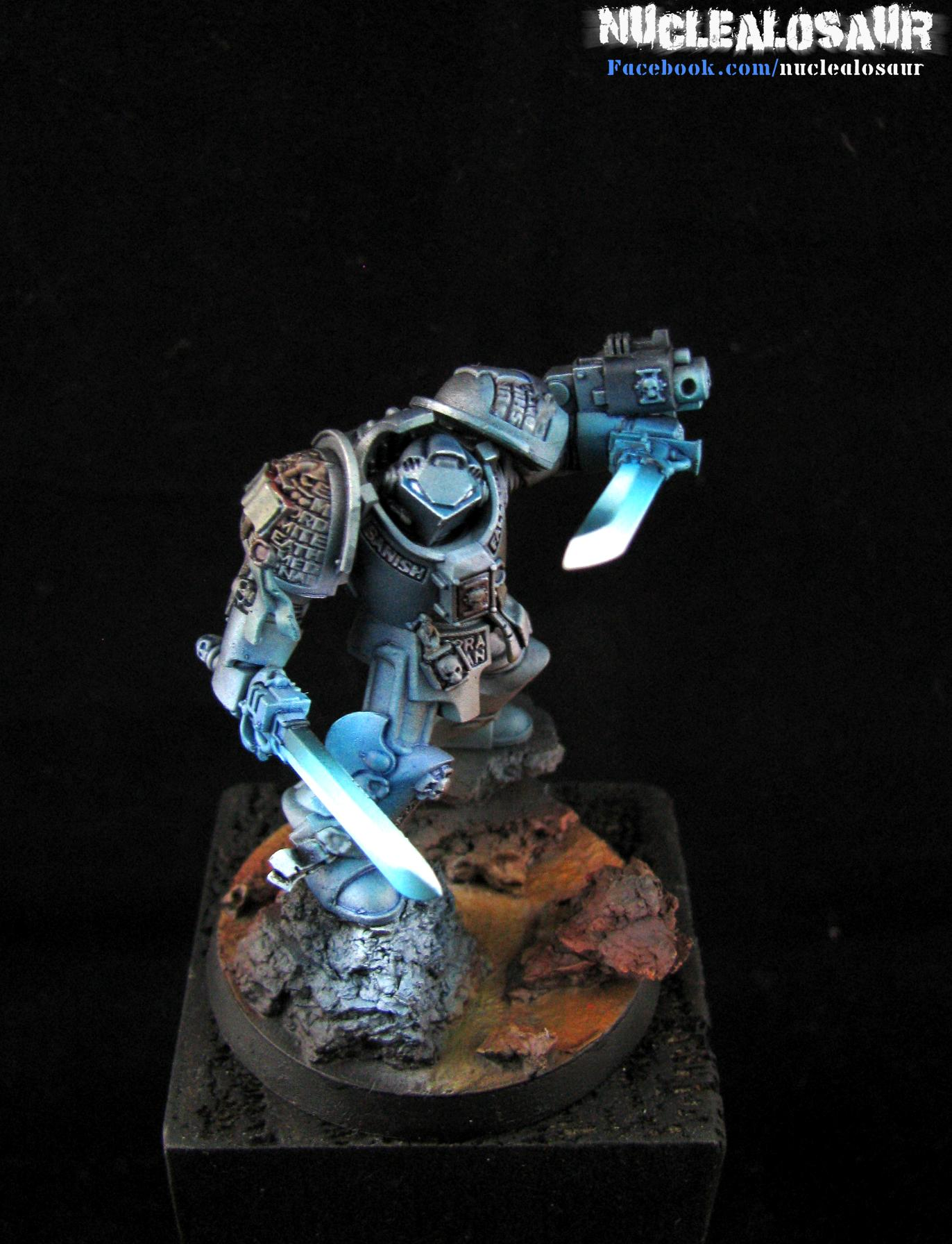 Airbrush, Falcions, Glow, Grey Knights, Terminator Armor