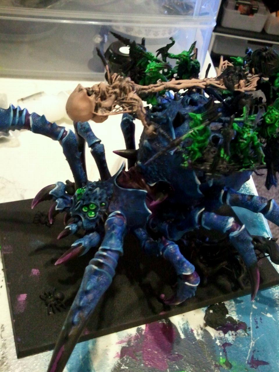 Arachnarock, Painted, Skeletons, Spider, Work In Progress