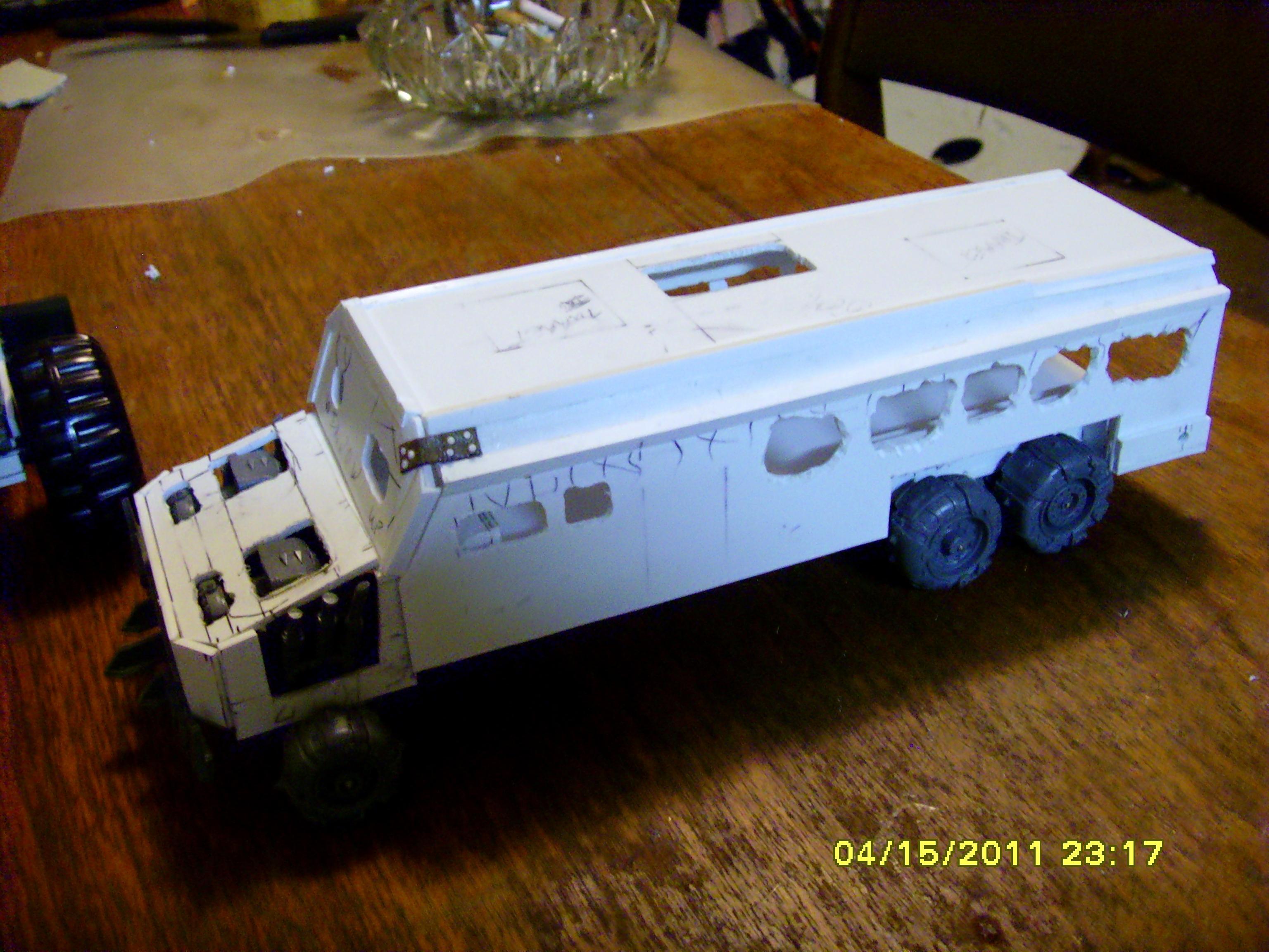 Battlewagon, Bus, Conversion, Orks, Scratch Build, Vehicle, Warhammer 40,000