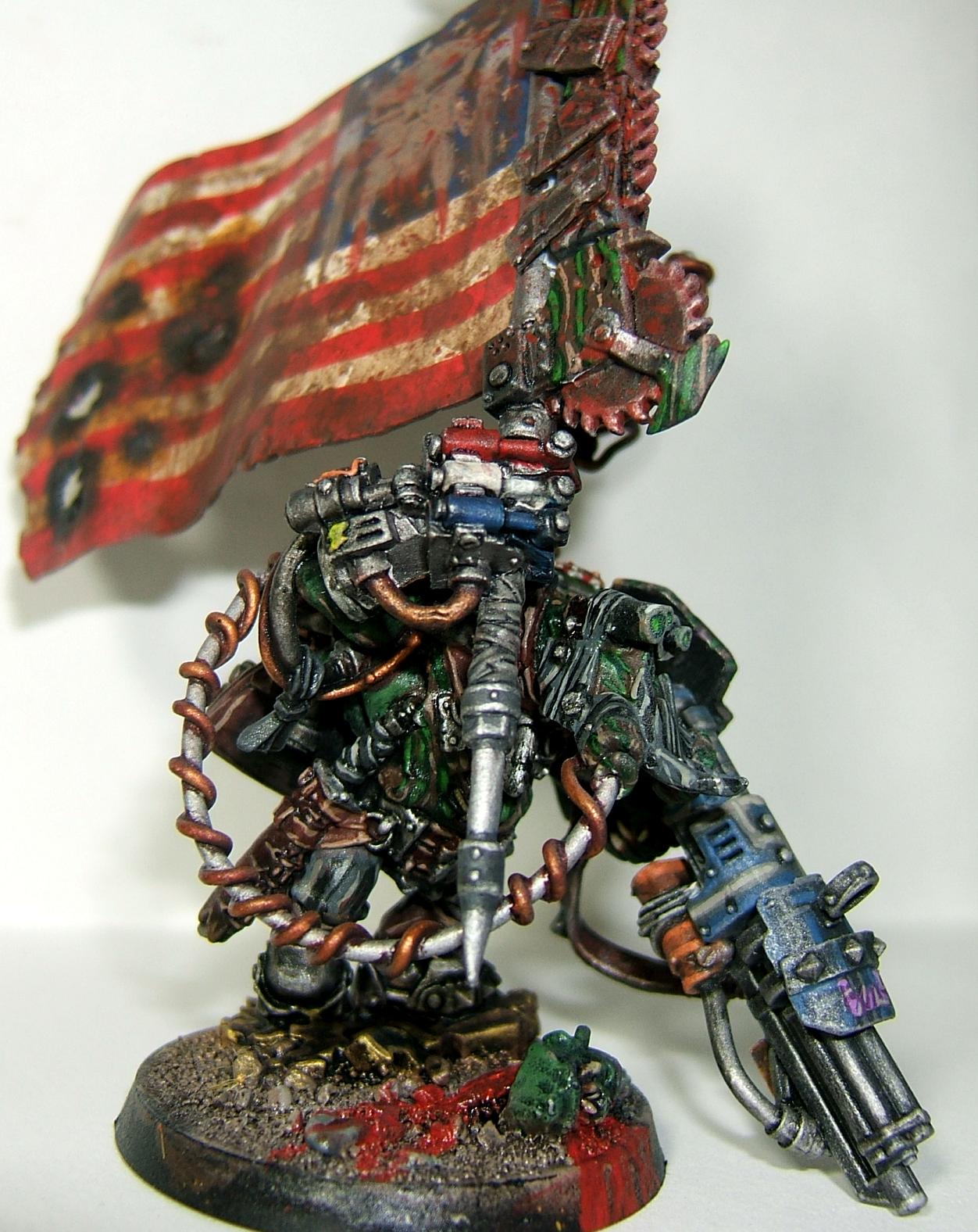 America, Blood Axe, Bludd Axe, Conversion, Flag, Kommando, Kommandoz, Orks, Space Ork, Space Orks, Waaagh!, Warboss, Warhammer 40,000, Warhammer Fantasy