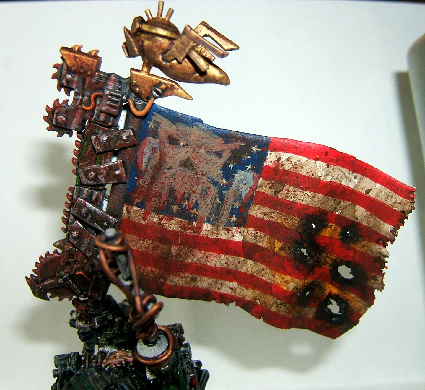America, Bludd Axe, Conversion, Flag, Kommando, Kommandoz, Orks, Space Or, Space Ork, Space Orks, Waaagh!, Warboss, Warhammer 40,000