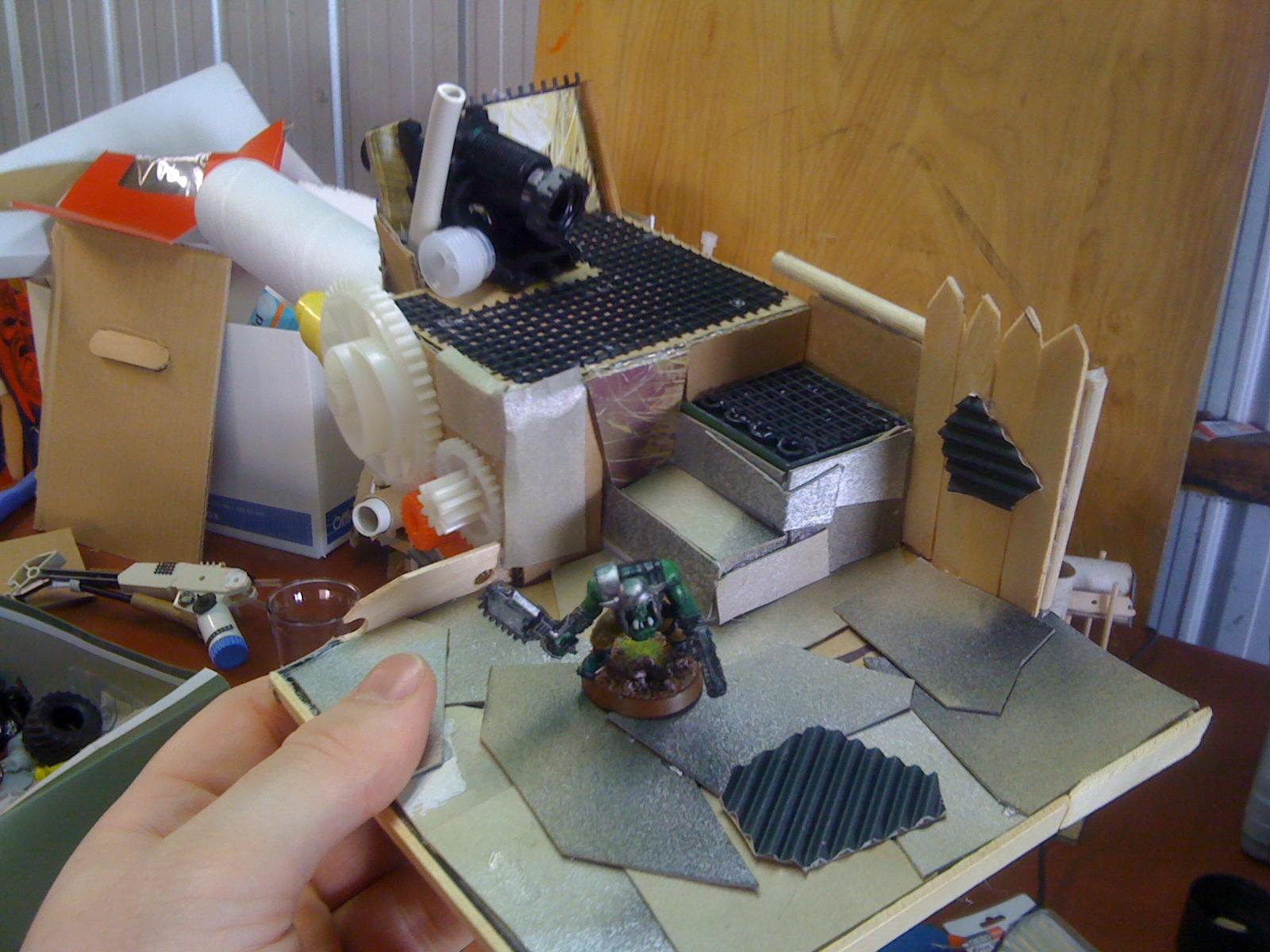Ork Wip, More complete version of the gun arm platform starting to take shape