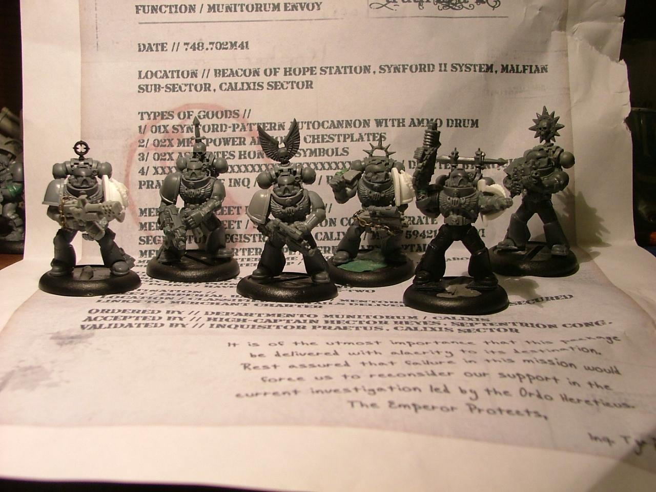 Mentor Legion, Space Marines, Work In Progress
