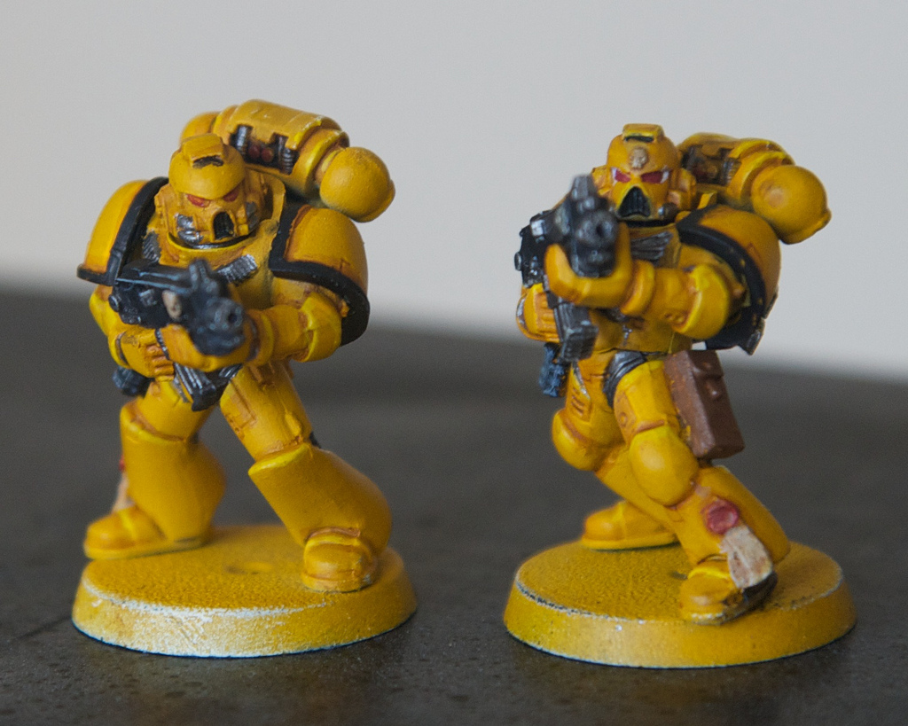 Experiment, Fists, If, Imperial Fists, Space Marines, Test, Yellow