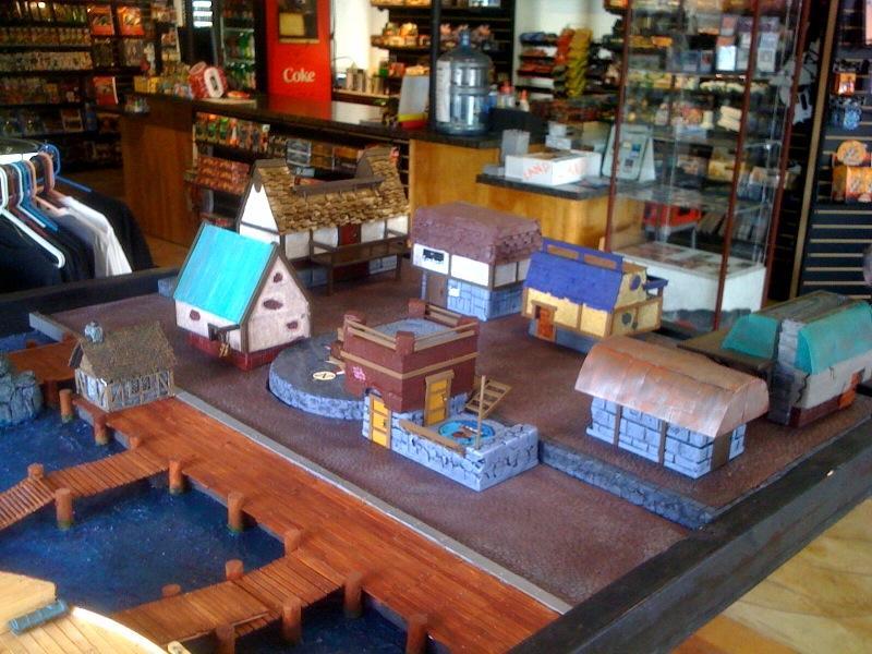 Docks, Houses, Terrain, Town