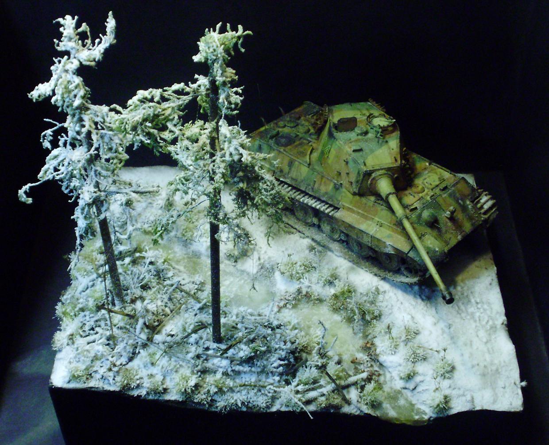 Axis, Diorama, Germans, Tank, Tiger Ii, Winter, World War 2