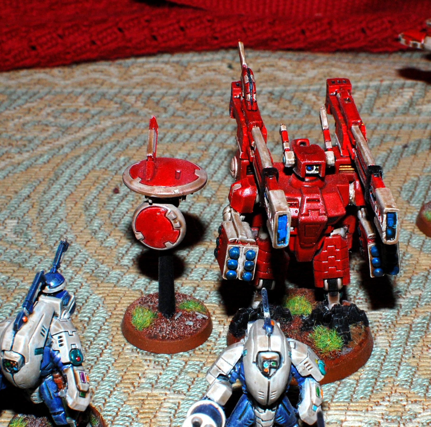 Broadsides, Drone, Fal'shia, Red, Shield Drone, Tau, Xv88