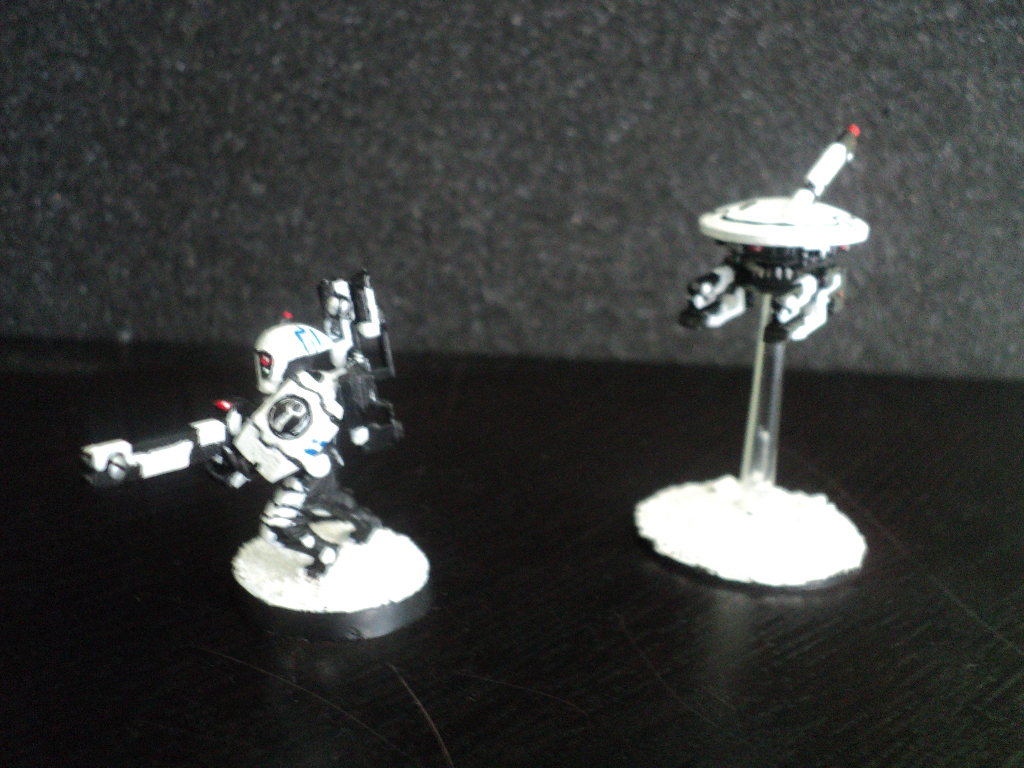 Drone, Fire Warriors, Snow, Tau