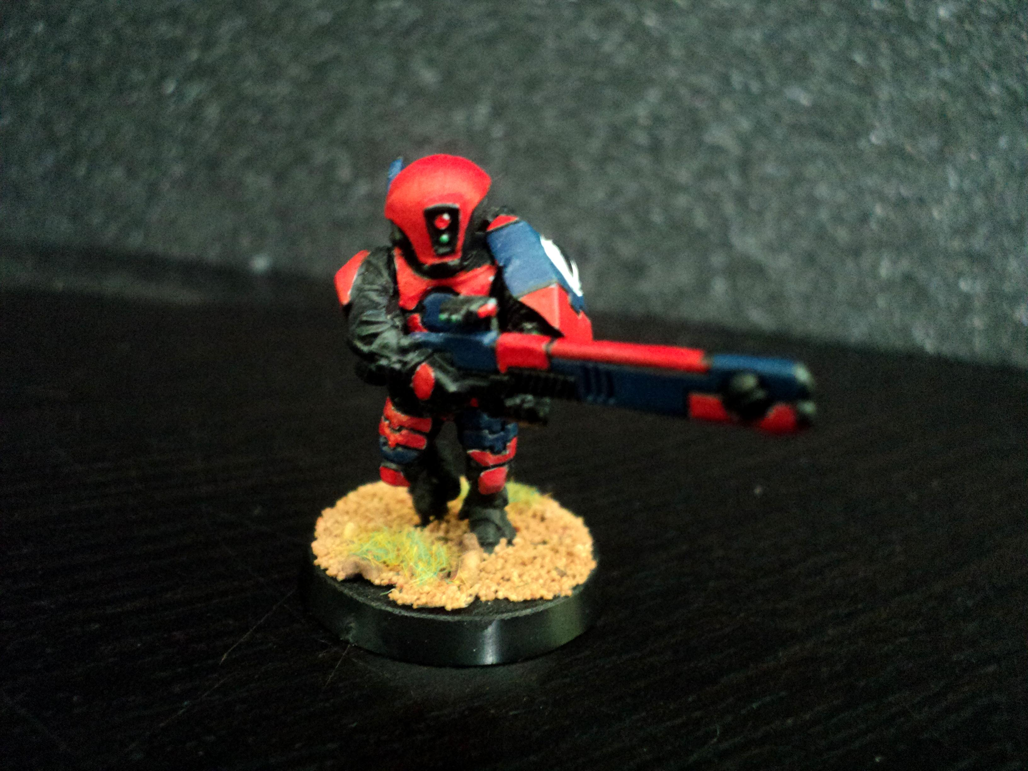 Blue, Fire Warriors, Red, Tau