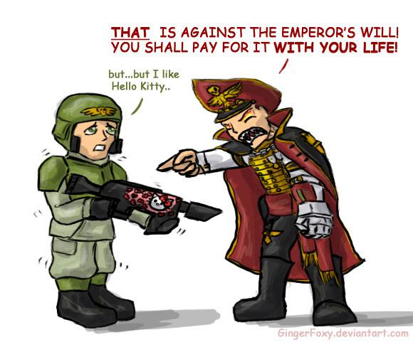 Commissar, Hello Kitty, Humor, Imperial Guard