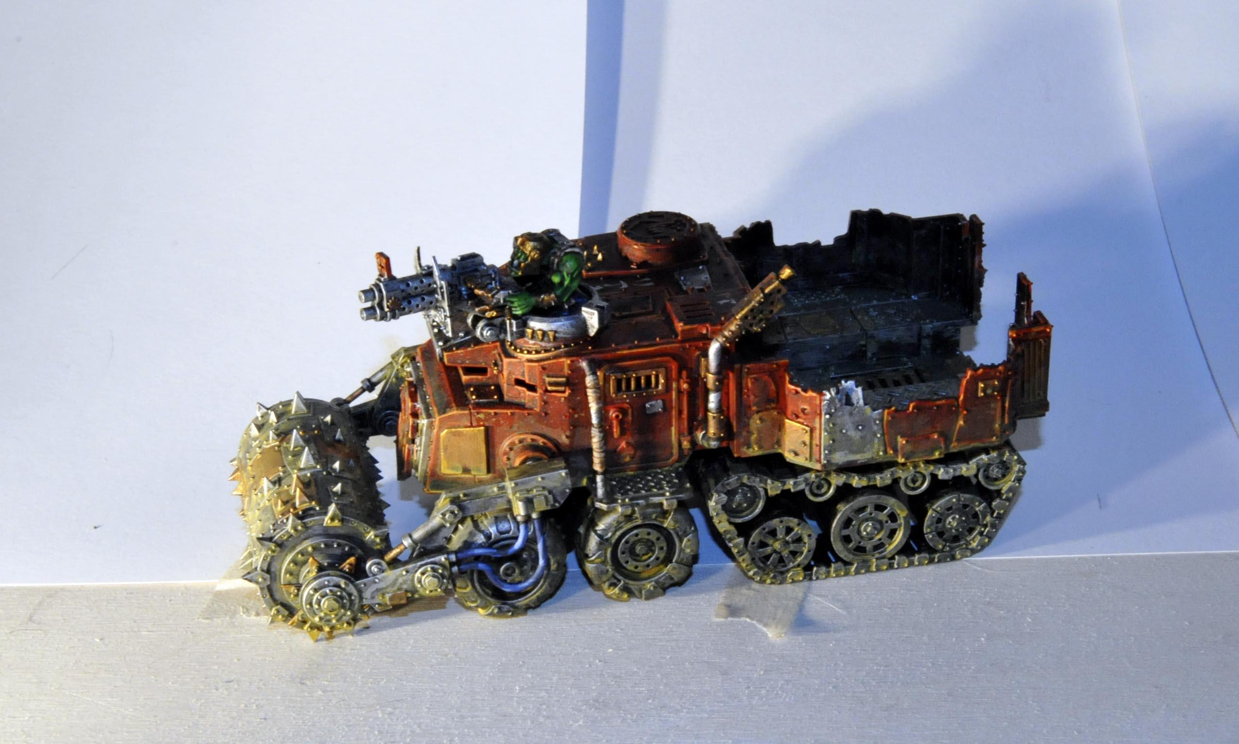 Battlewagon, Deff Rolla, Orks, Red, Seed Freaks