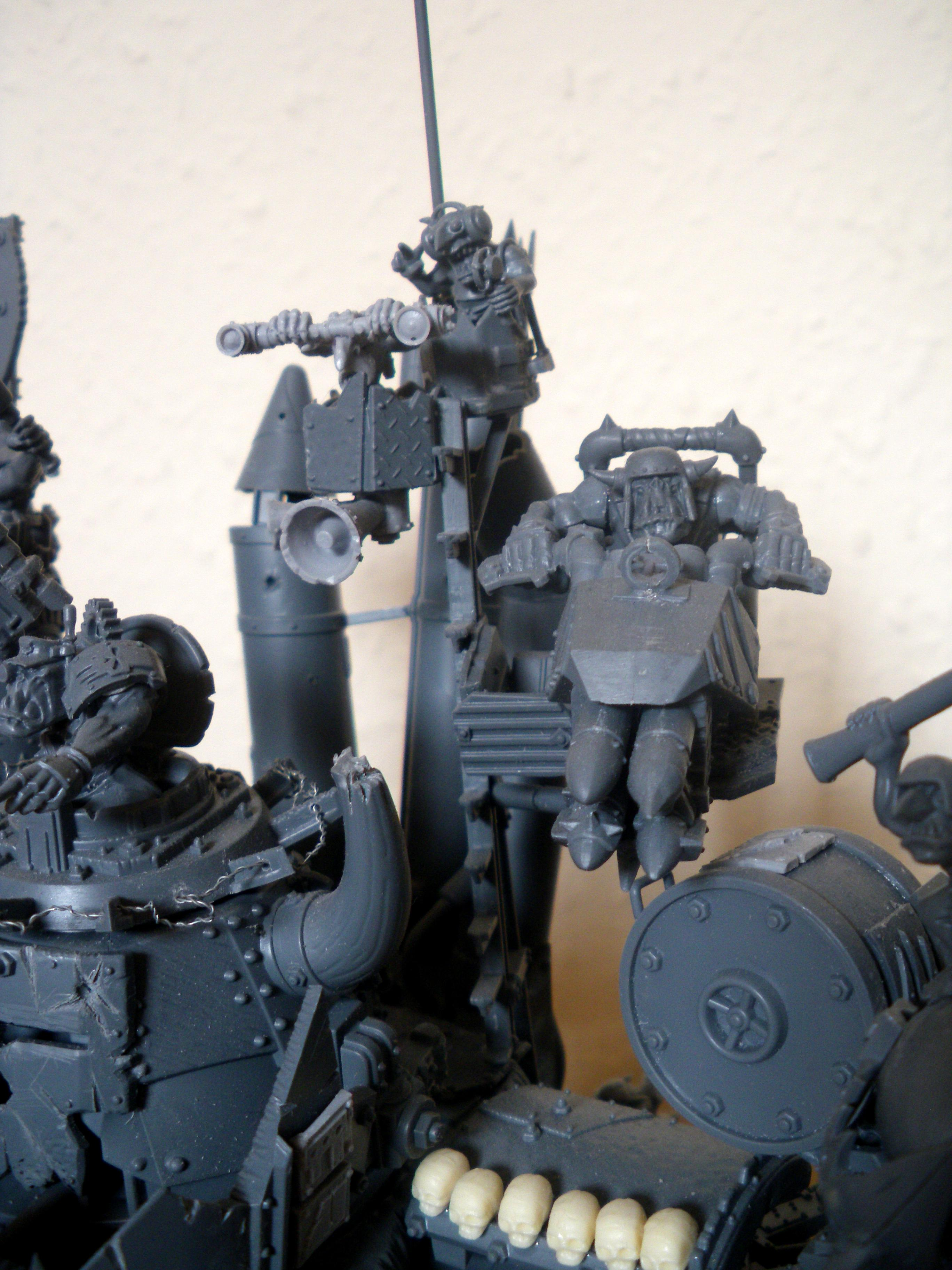 Convershun, Conversion, Grot Nest, Grots, Mekboy, Missile Platform, Modelling, Orks, Project, Stompa, Work In Progress