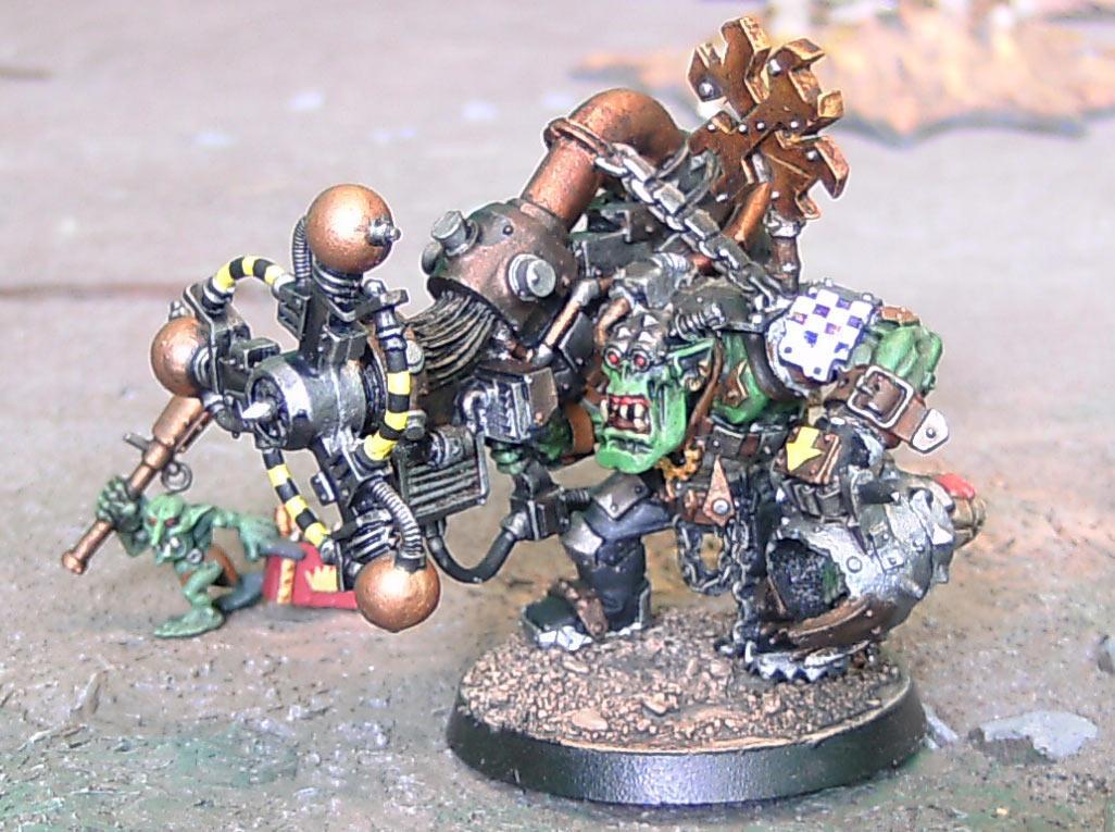 Big Mek, Orks, Ouze, Sag, Shokk Attack Gun, Warhammer 40,000