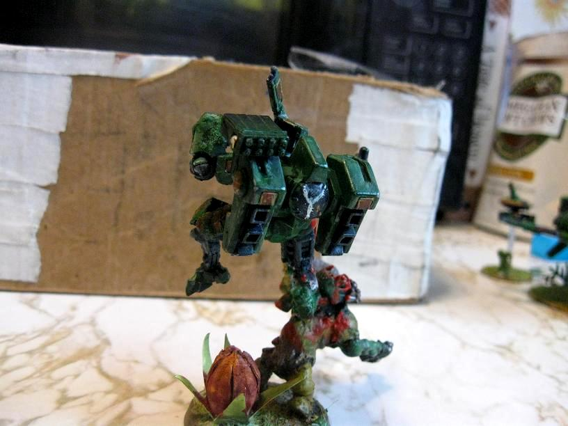 Battlesuit, Diorama, Fireknife, Jungle, Missile Pod, Orks, Plasma Rifle, Tau
