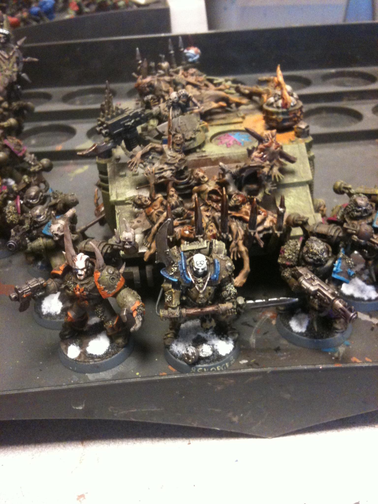 Chaos Space Marines, Conversion, Death Guard, Nurgle, Warhammer 40,000