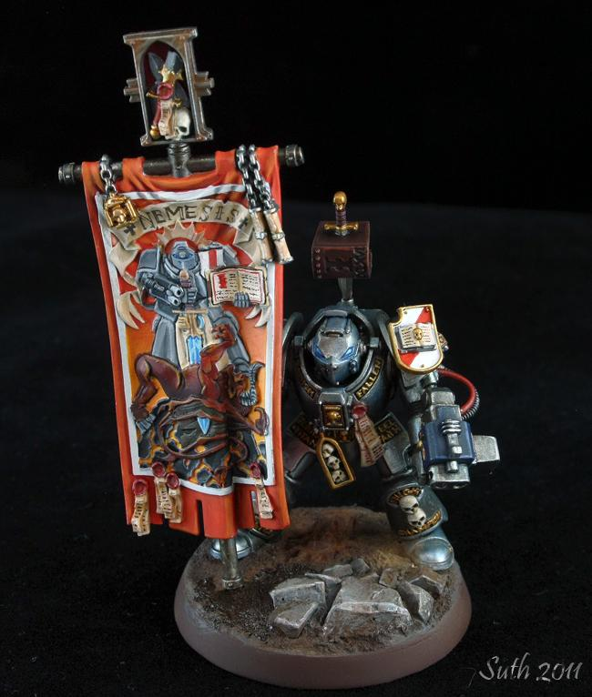 Grey Knights, Standard Bearer, Terminator Armor, Warhammer 40,000