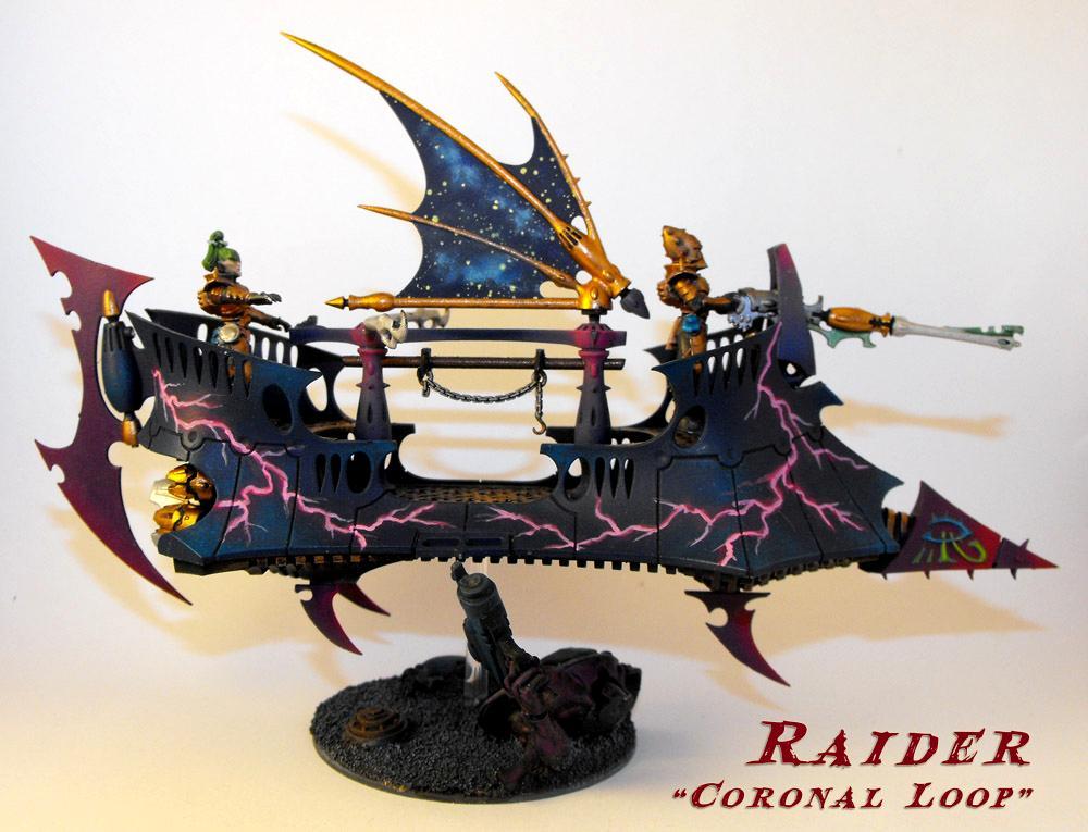 Blue, Dark Eldar, De, Dedicated Transport, Lightning, Pink, Raider, Skimmer, Transport