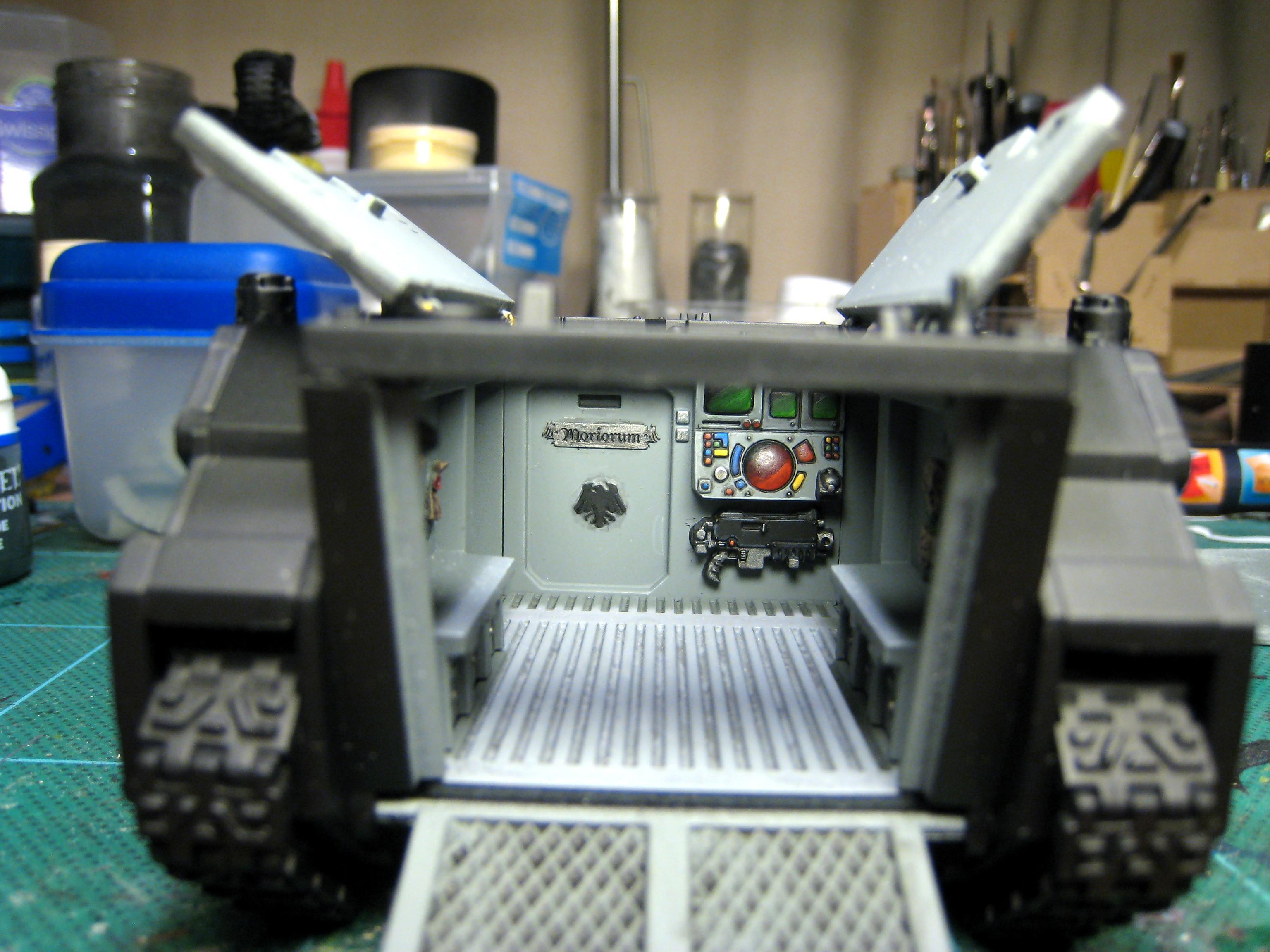Astartes, Raven Guard, Rhino, Space Marines
