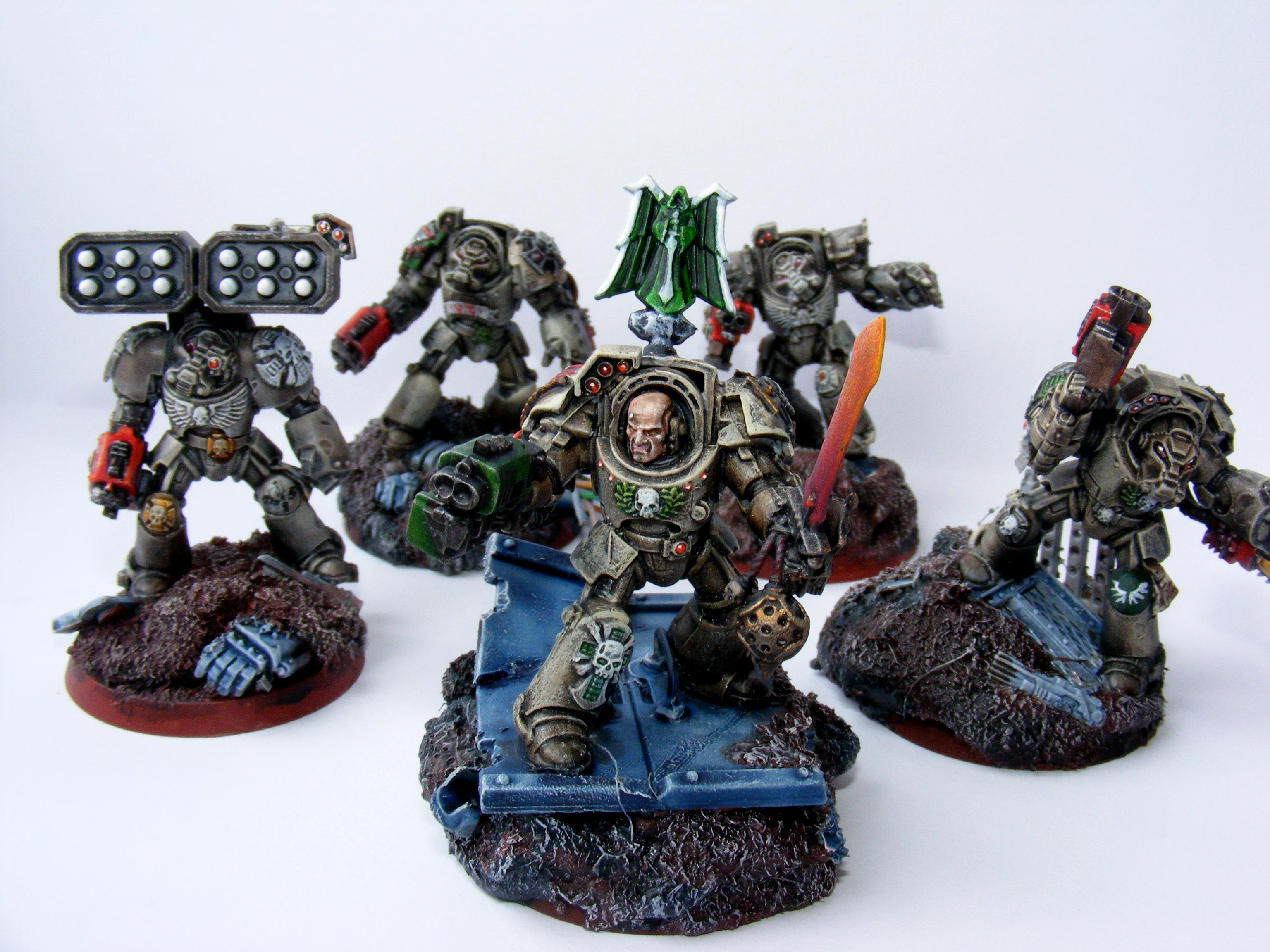 Angel, Dark, Dark Angels, Squad, Terminator Armor, Warhammer 40,000