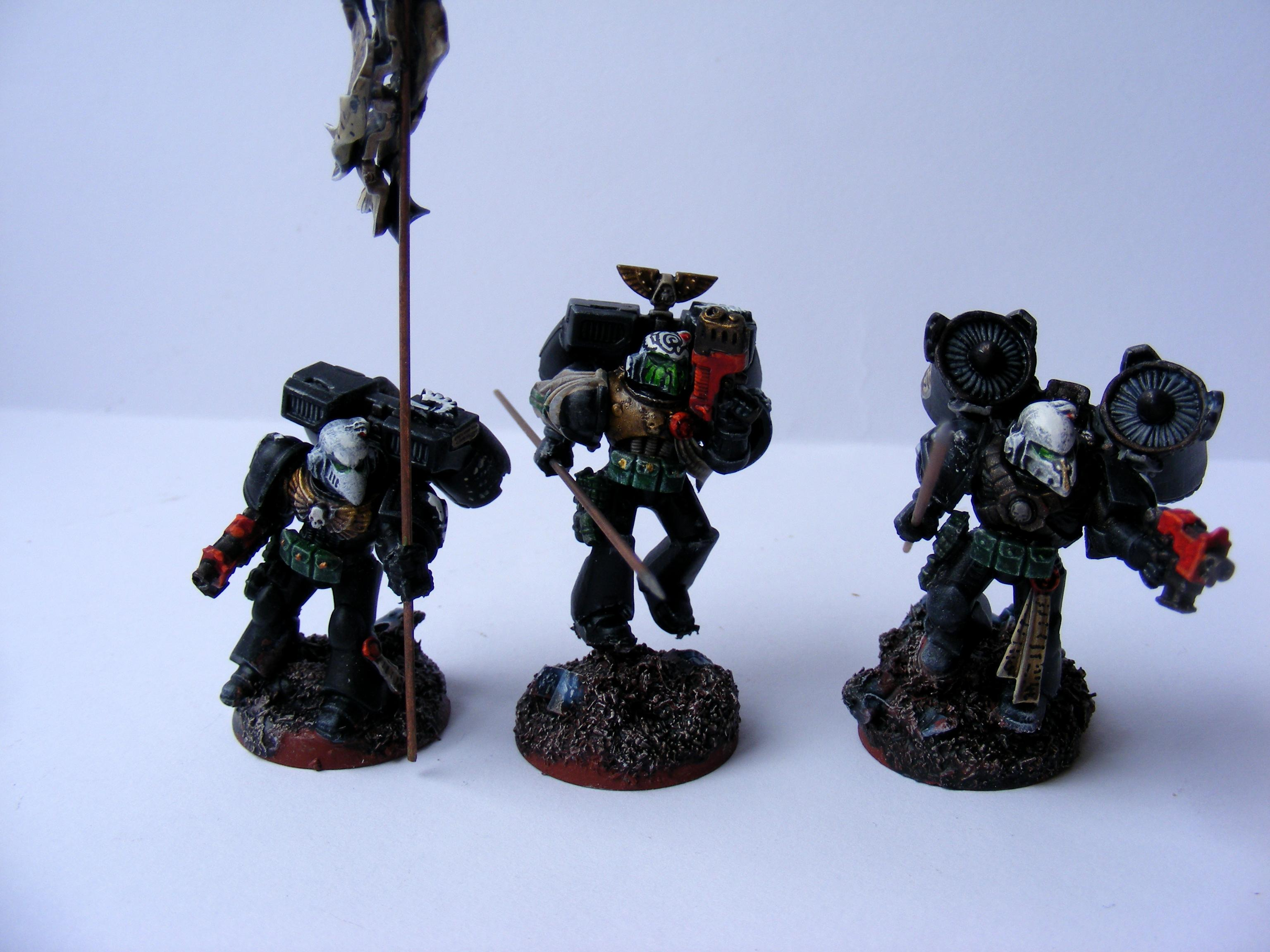 Assault Squad, Conversion, Dark Angels, Raven Guard, Space Marines, Spears