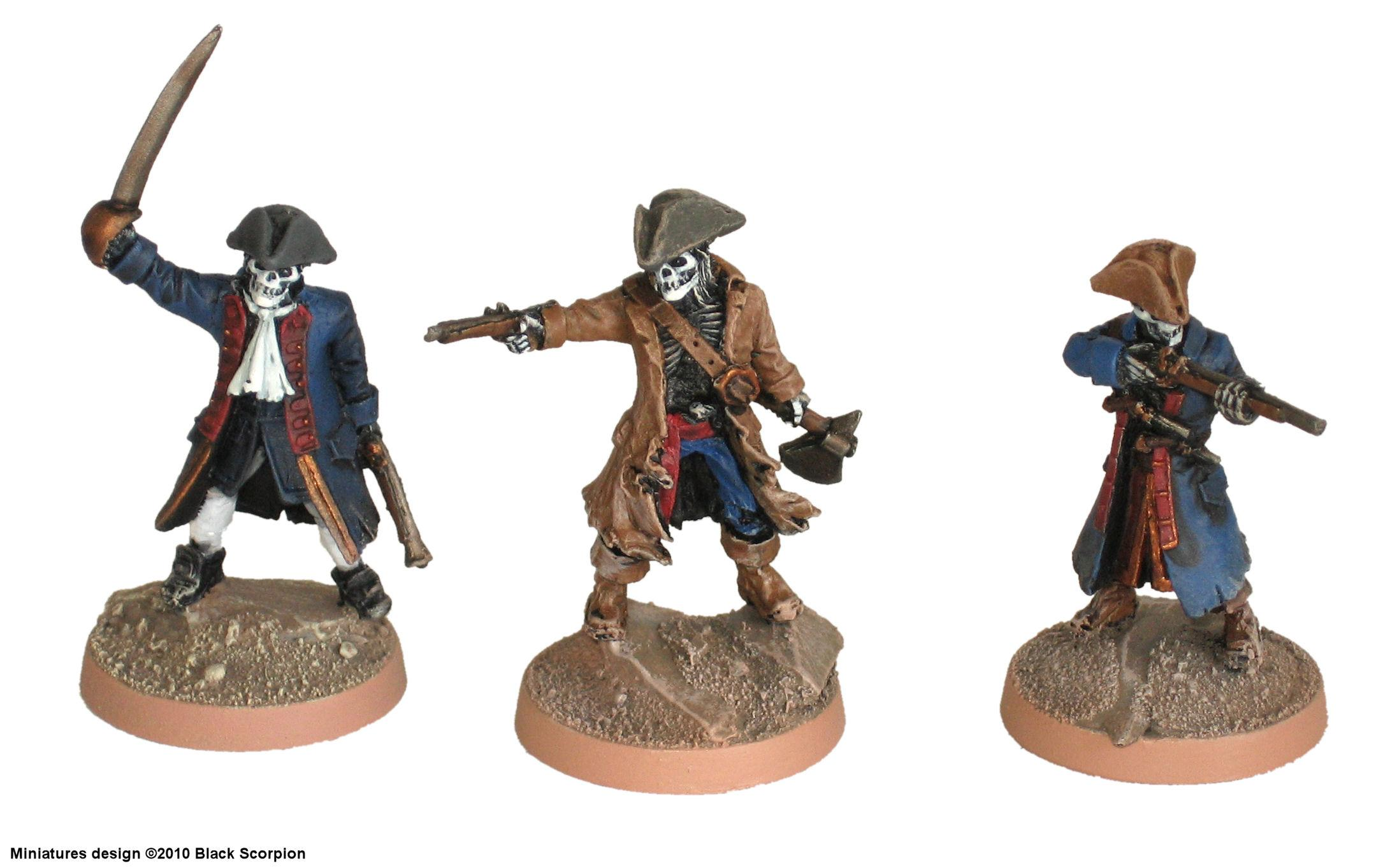 Black Scorpion, Bones, Cutlass, Naval, Pirate, Skeletons, Undead, Warhammer Fantasy