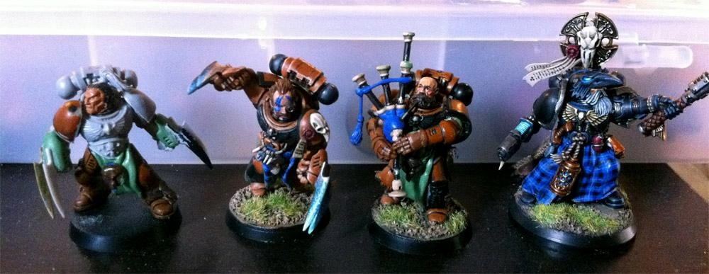 Awesome, Bag Piper, Piper, Space Marines, Spae Wolf, Wolf Priest