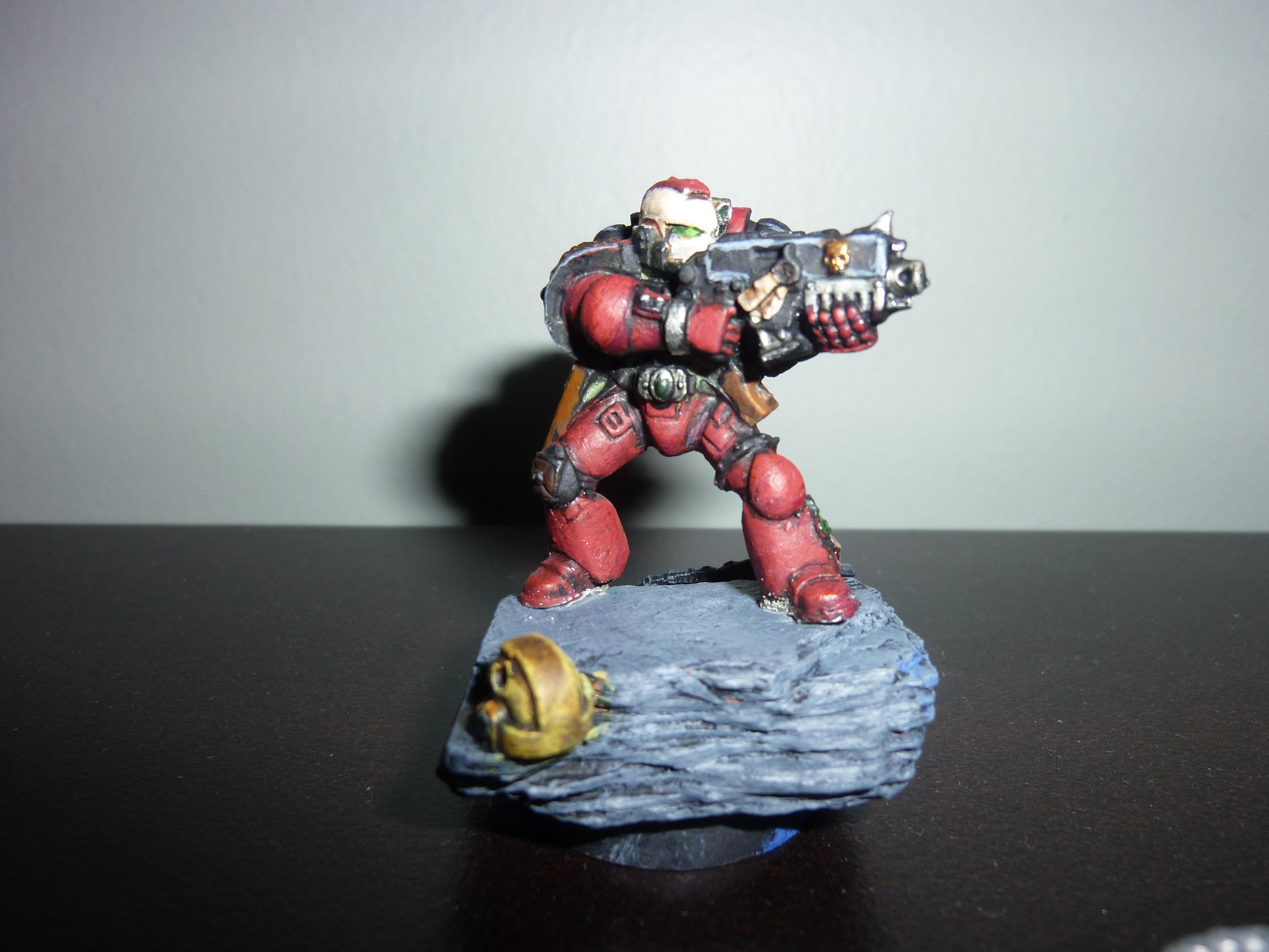 Base, Bolter, Head, Rock, Space Marines