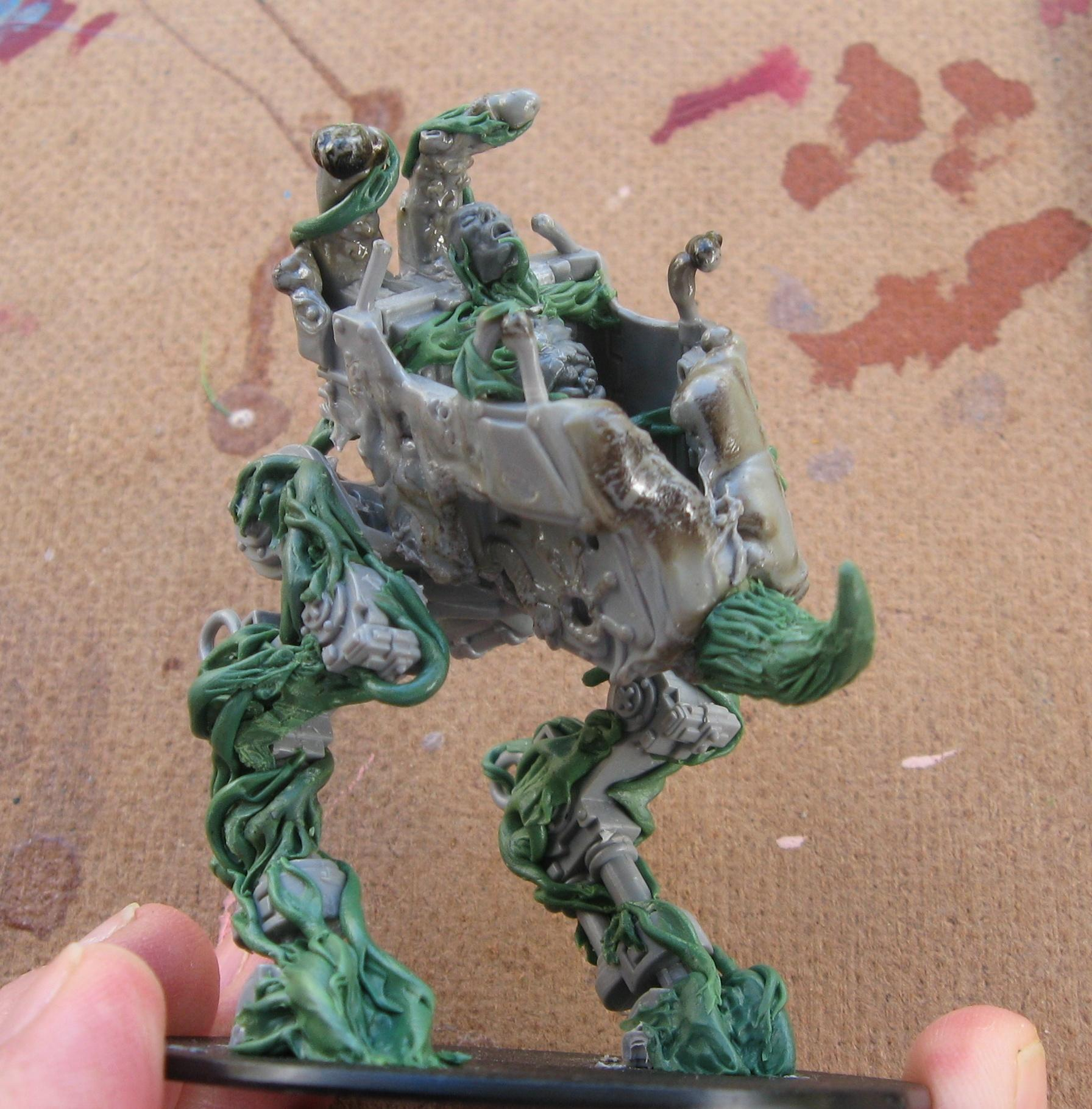 Chaos Daemons, Conversion, Daemon Prince, Daemons, Nurgle, Work In Progress