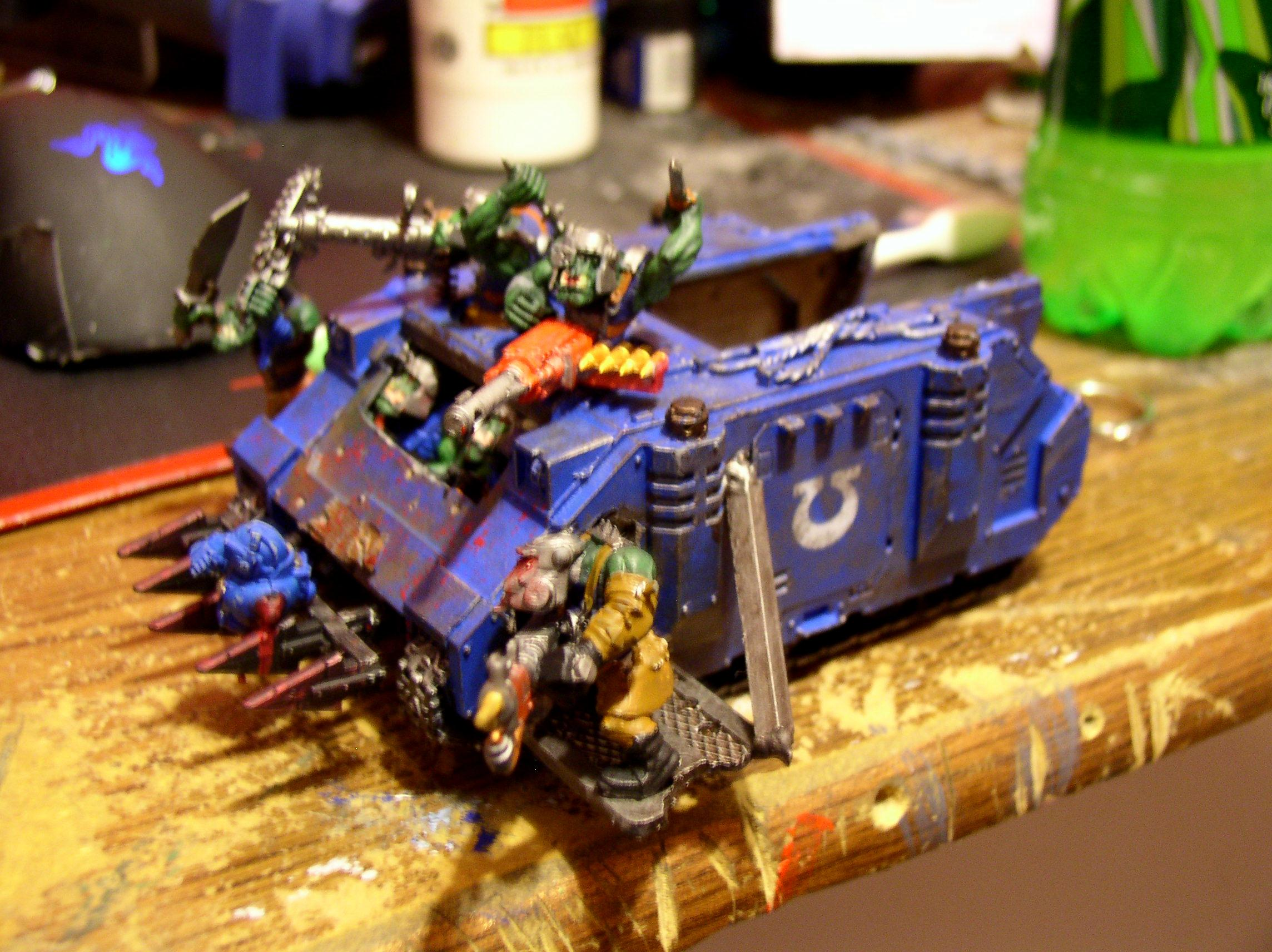 Looted, Looted Rhino, Open Top, Orks, Smurfs