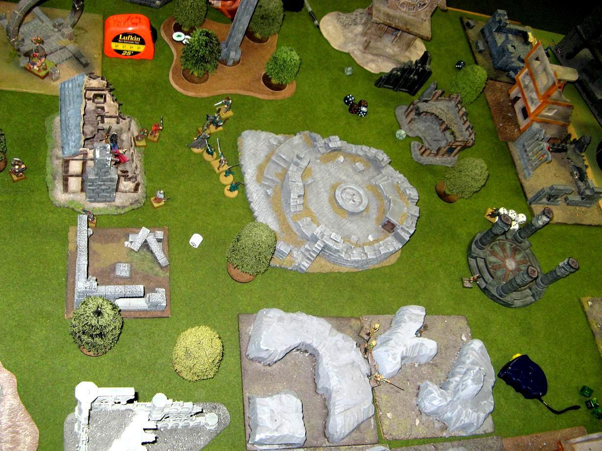 Board, Custom, Custom Terrain, Game Table, Ruins, Terrain, Warhammer Fantasy