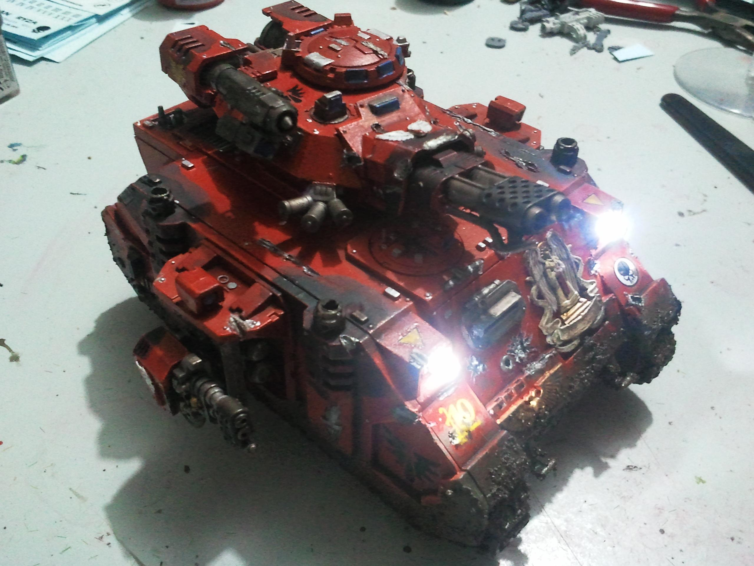 Baal Predator, Blood Angels, LED, Space Marines, Tank, Warhammer 40,000