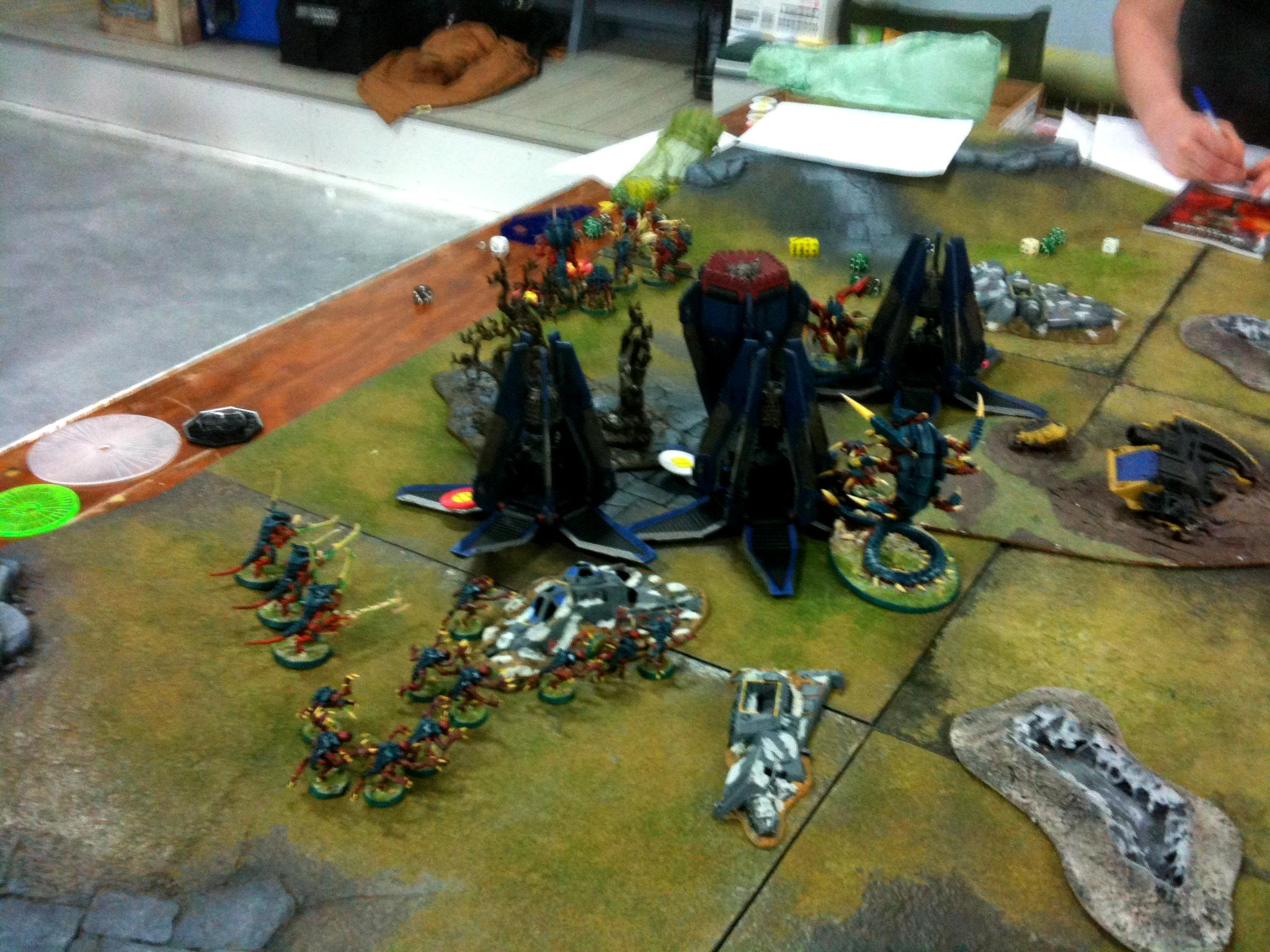 Breakthrough, Dreadnought, Drop Pod, Space Marines, Tyranids, Valley