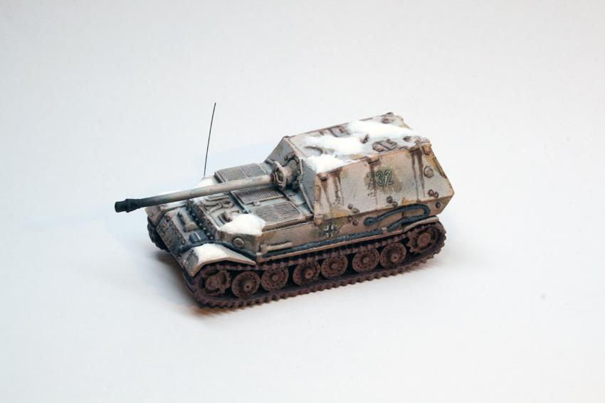 Flames Of War, Germans, Whitewash Ferdinand Fow Winter Tank