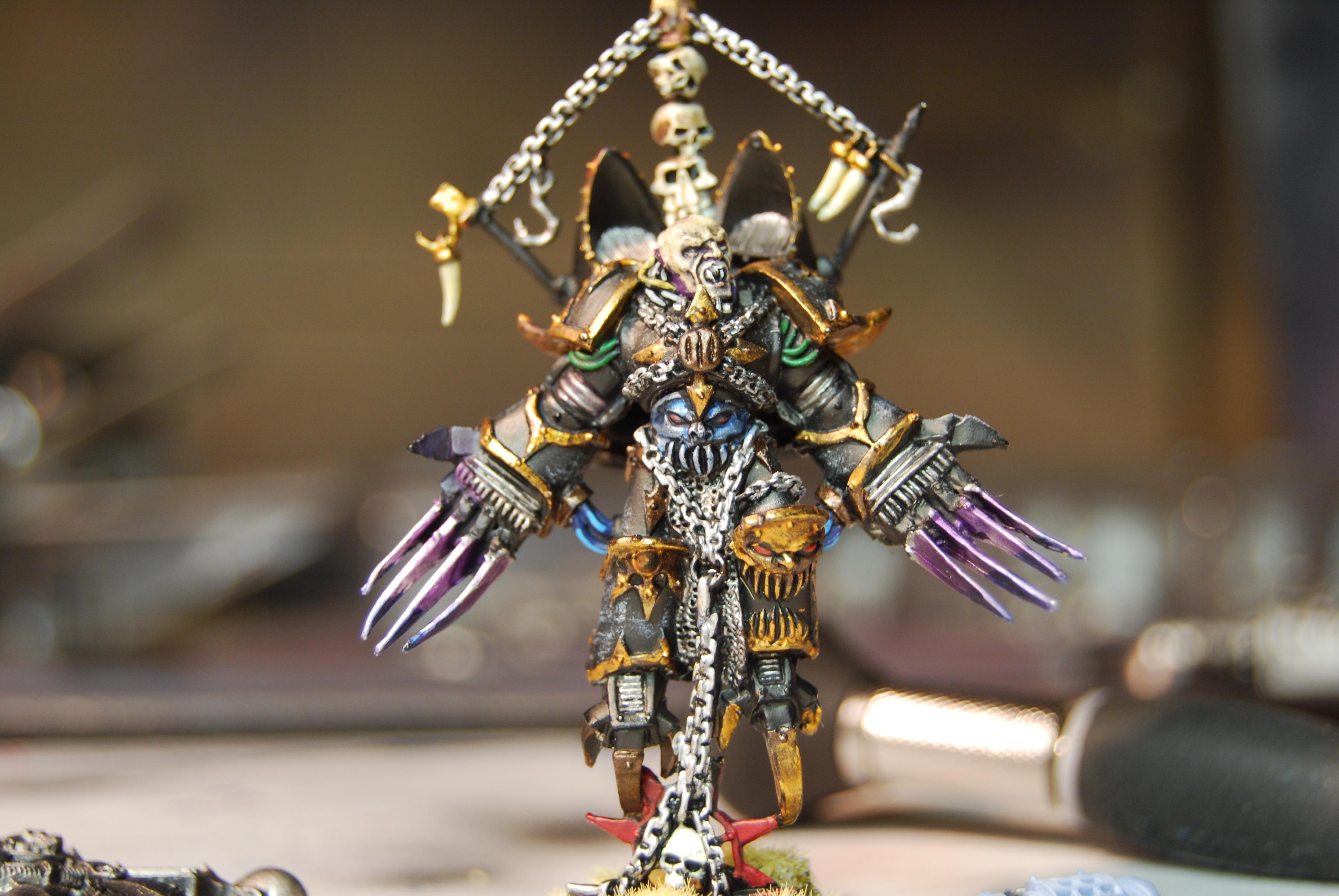 Black Legion, Chaos, Chaos Lord, Jump Pack, Painted, Warhammer 40,000