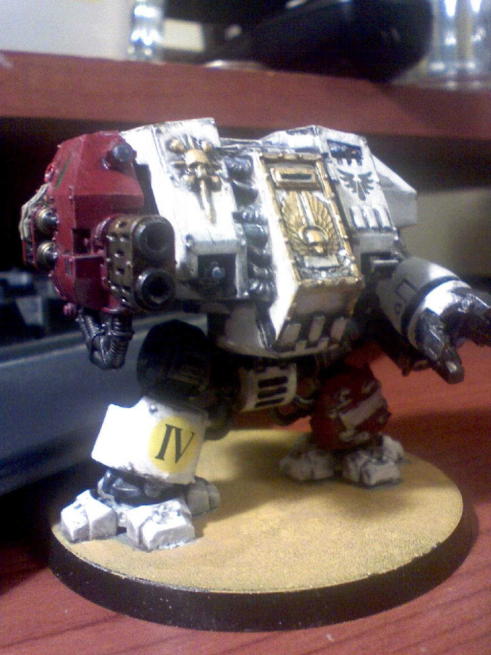 Assault On Black Reach, Blood Angels, Do-it-yourself, Dreadnought, Multi-melta, Red, Space Marines, Warhammer 40,000, White, Work In Progress