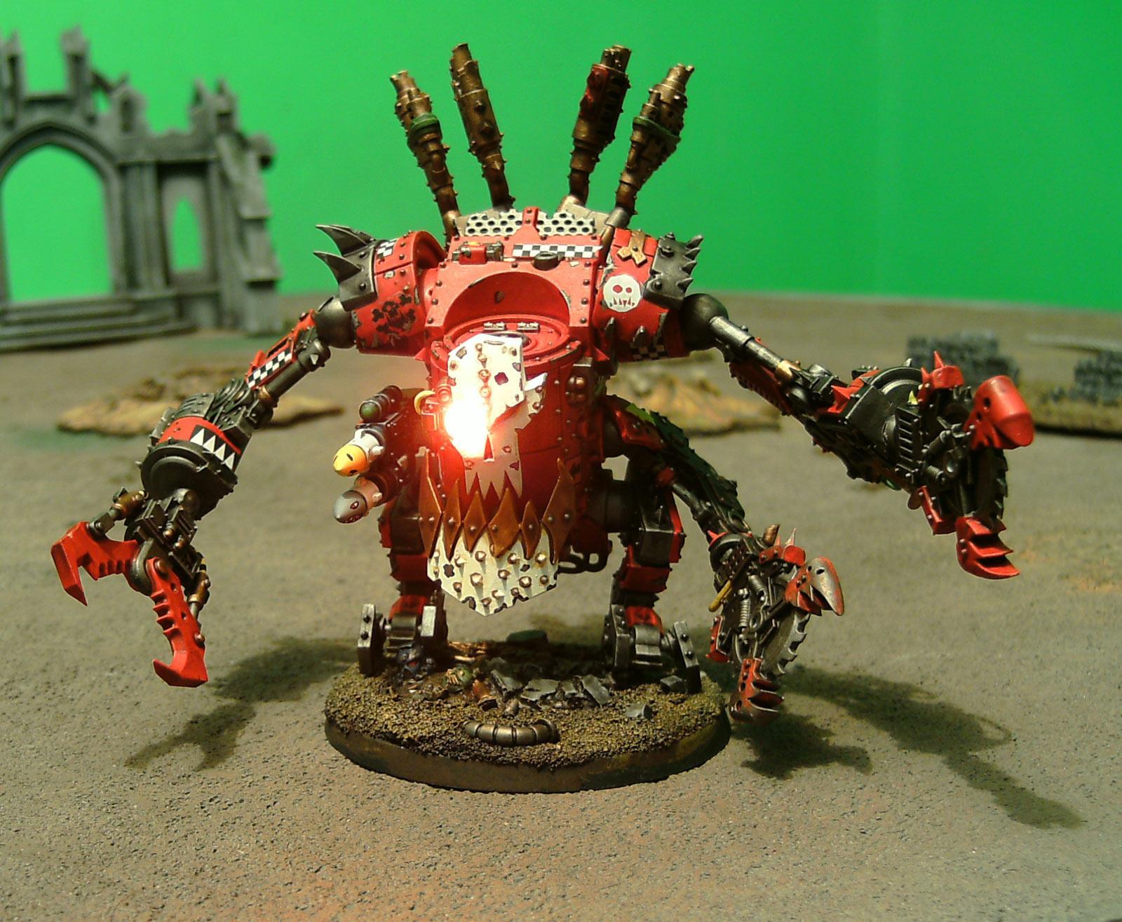 Deff Dread, Evil Suns, Evil Sunz, LED, Orks, Ouze, Walker, Warhammer 40,000
