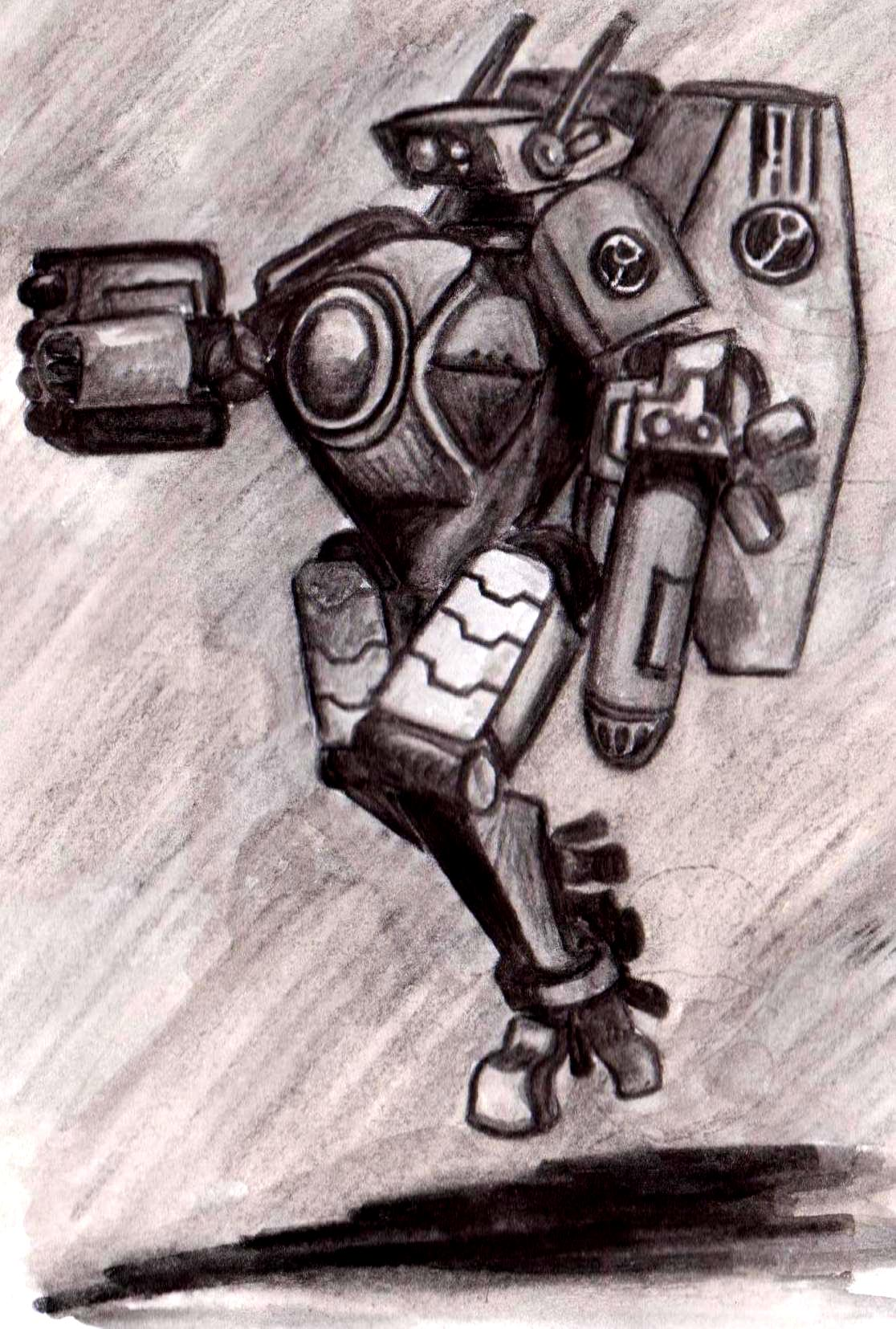 Artwork, Chaos Space Marines, Crisis Battlesuit, Cybot, Drawing, Dreadnought, Old, School, Scratch Build, Style, Tau, Work In Progress, XV8