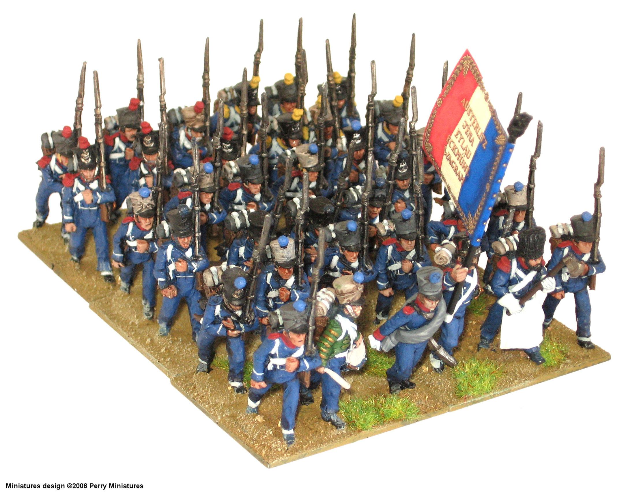Battalion, French, Historical, Light, Napoleonic, Perry