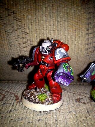 Power Fist, Red Raptors, Space Marines, Warhammer 40,000