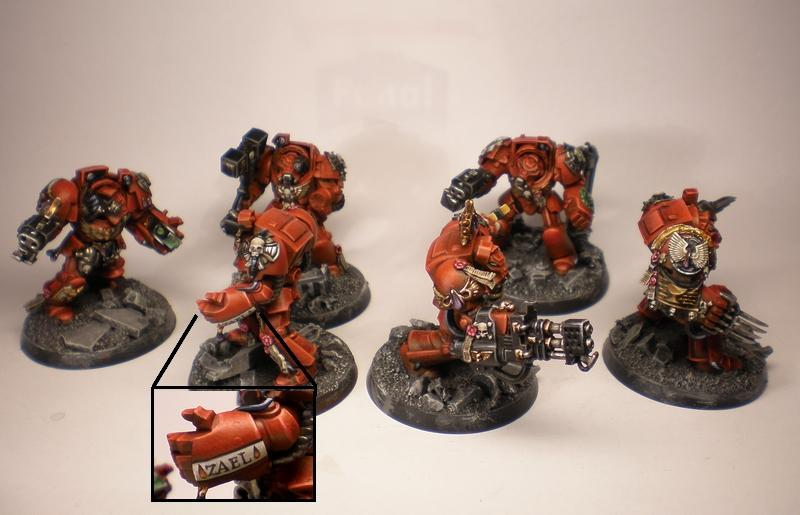 Adeptus Astartes, Blood Angels, Commission, Conversion, Cyclone, First Company, Forge World, Power Fist, Space Hulk, Space Marines, Storm Bolter, Terminator Armor, Urban, Veteran, Warhammer 40,000