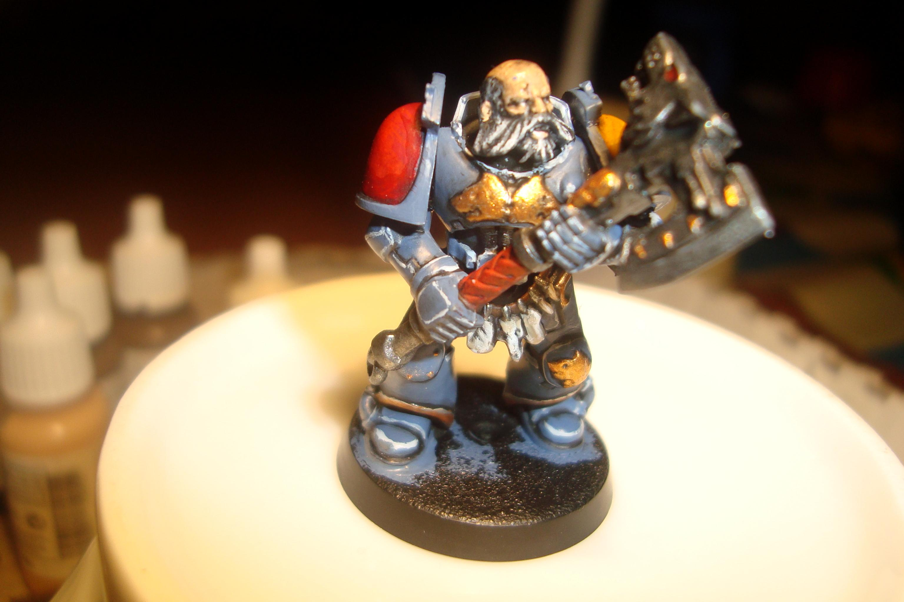 Semi compeleted wolg guard with frost axe