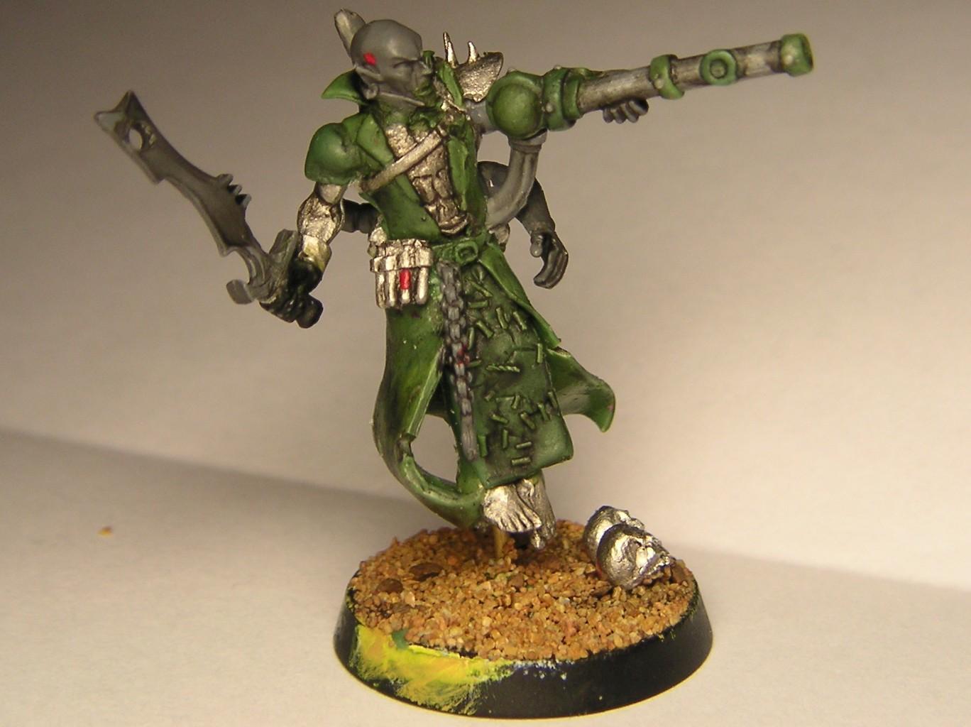 Dark Eldar, Haemonculus, Heamonculi Scratchbuilt Greenstuff, Kabalite Warrior