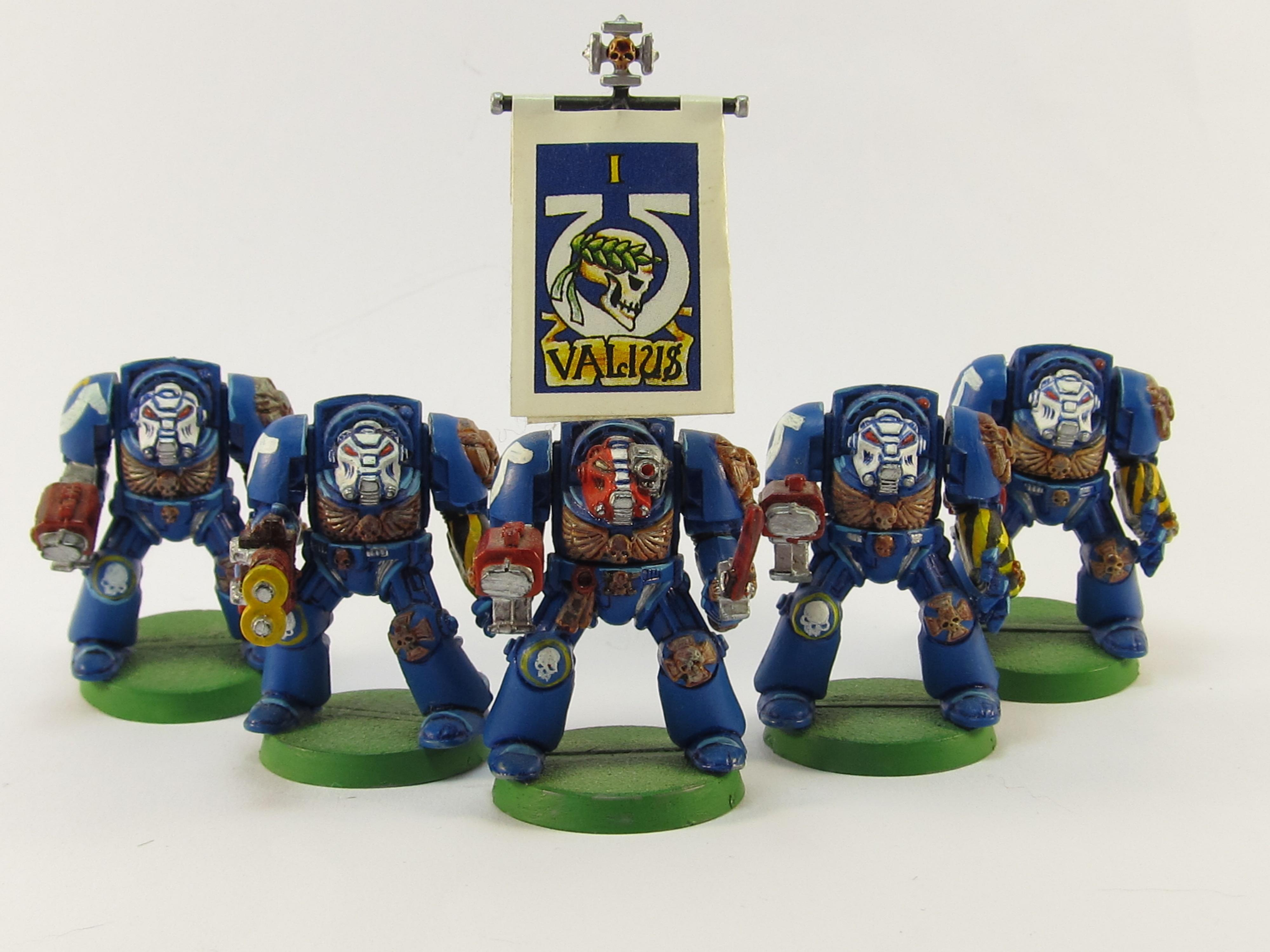 2nd Edition, Classic, Out Of Production, Painted Around 2001 To 2002, Terminator Armor, Ultramarines, Warhammer 40,000