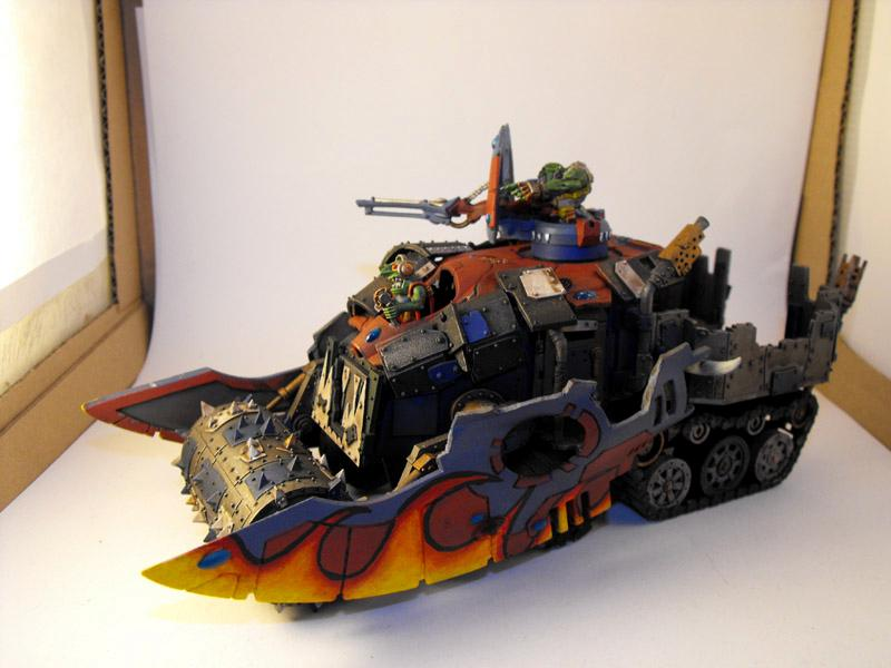 Altansar, Battlewagon, Conversion, Deffskulls, Eldar, Eldar Abuse, Falcon, Looted, Orks, Wagon