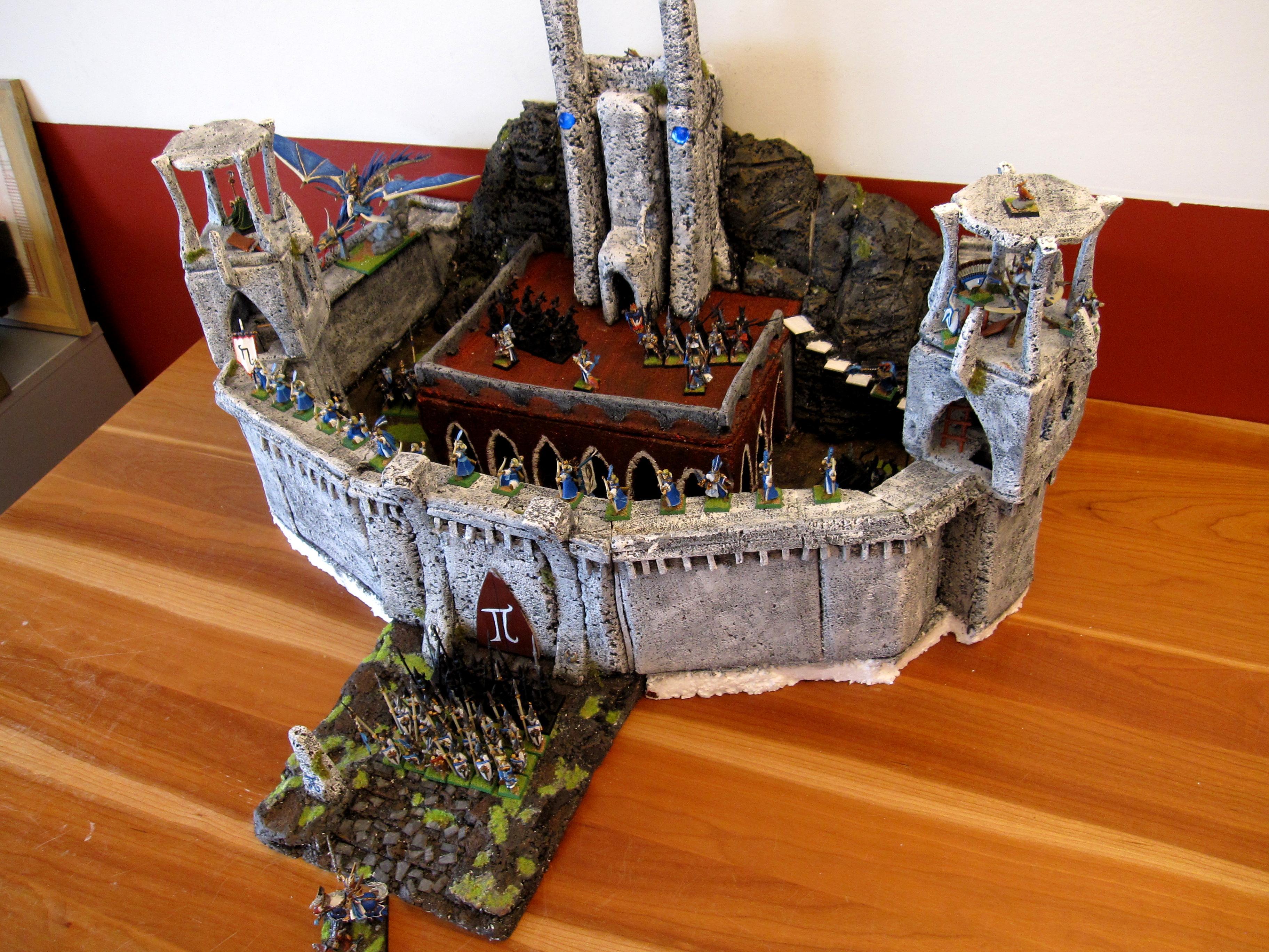 Bladelord, Buildings, Castle, Catle, Elves, Fortress, Grey Knights, Griffon, High Elves, Iob, Island Of Blood, Kalaer, Lava, Styrofoam, Terminator Armor