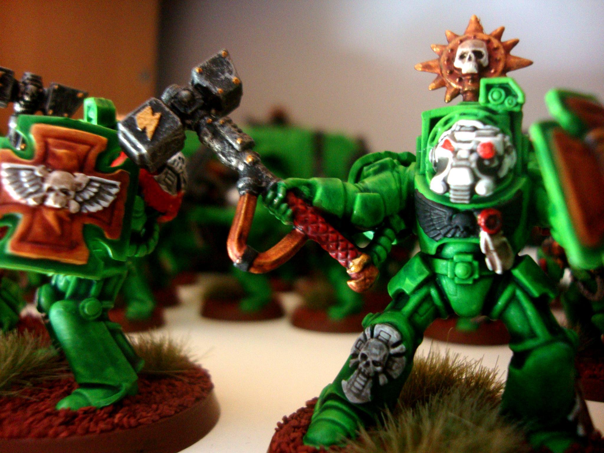 Space Marine Sons Of Medusa Terminator Assault Thunder Hammer Storm Shield