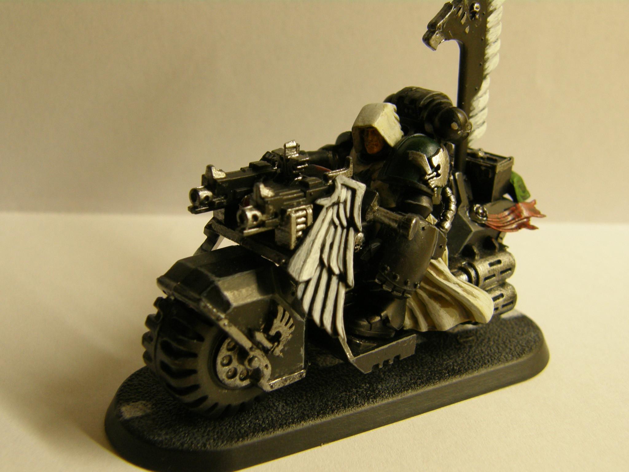 Bike, Dark Angels, Ravenwing, Space Marines